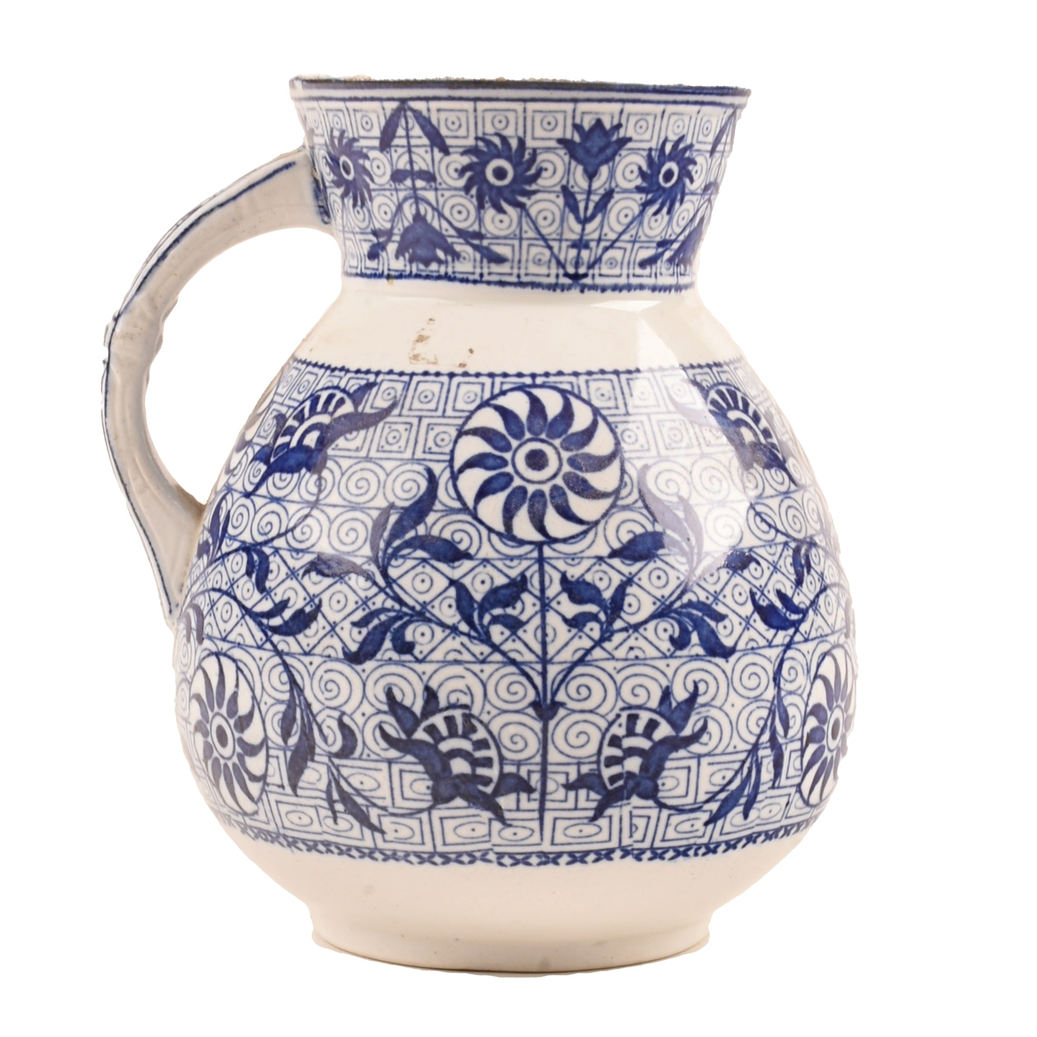 Early Wedgwood Blue and White Pitcher