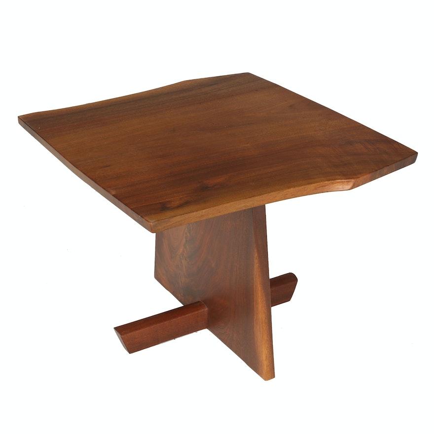 "Vintage George Nakashima ""Mingura"" End Table With Provenance"