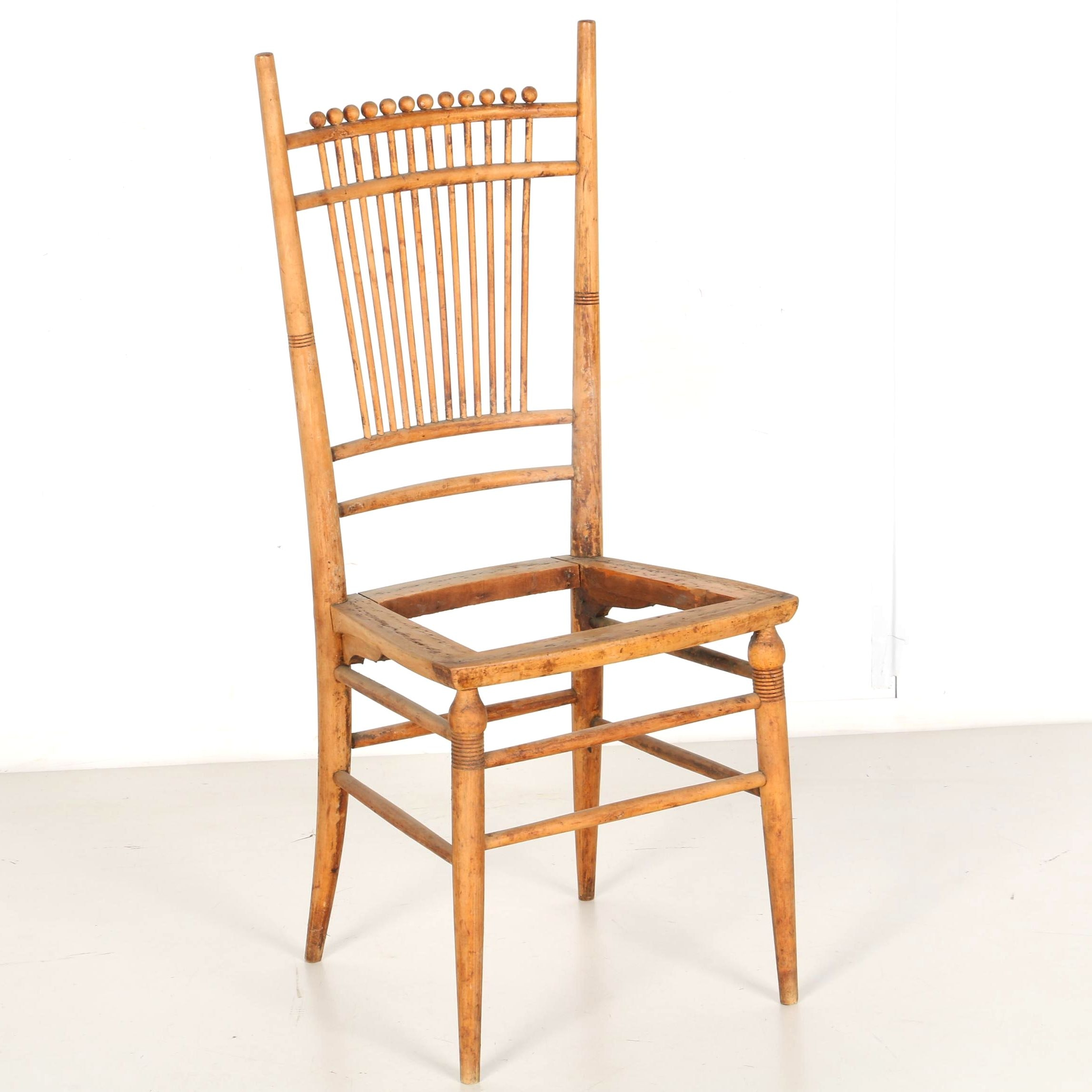 Antique Marble & Shattuck Wood Chair Frame