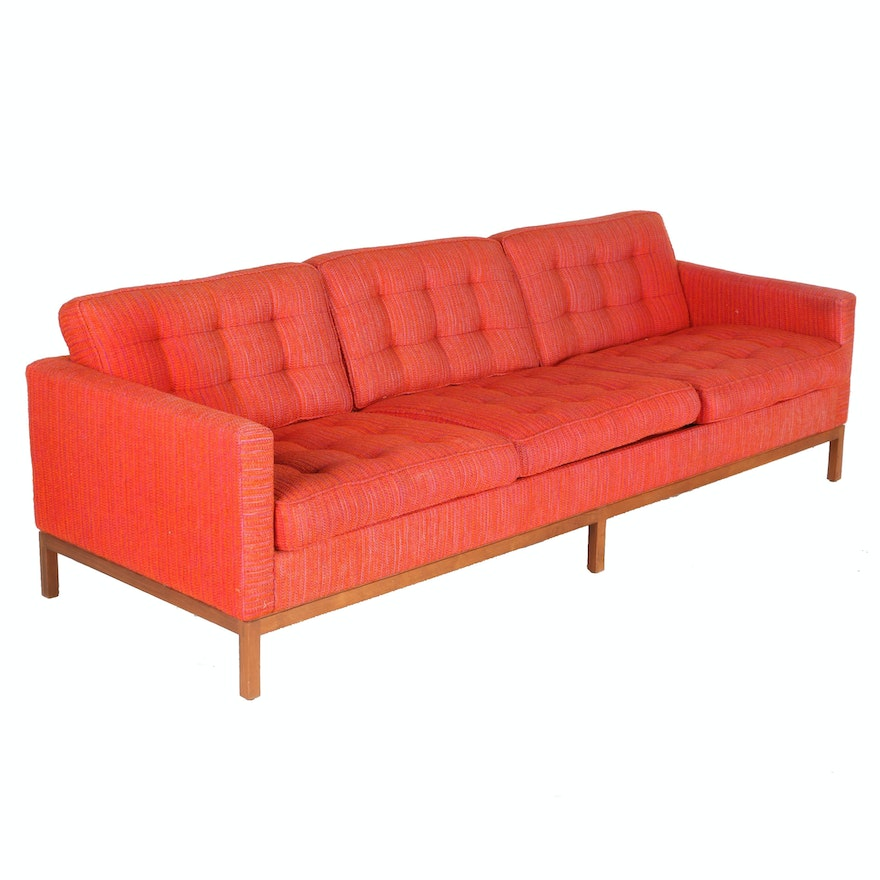 "Vintage Modernist ""1207"" Sofa by Florence Knoll for Knoll International With Provenance"