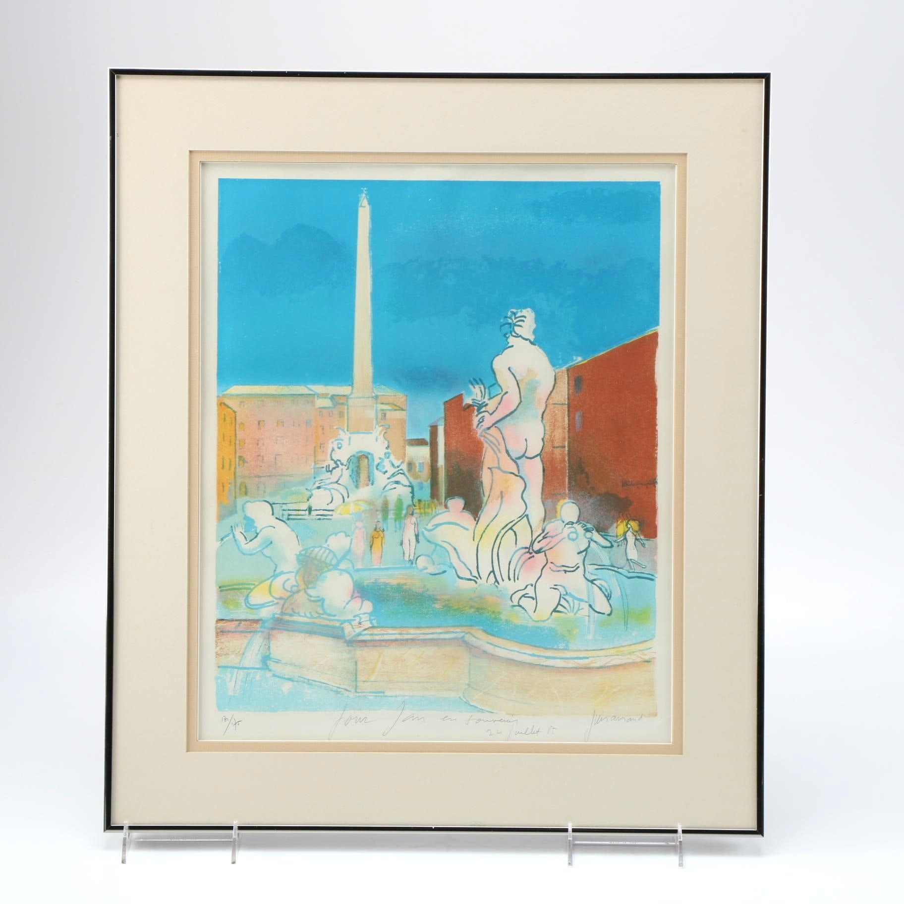 Limited Edition Paul Guiramand Lithograph