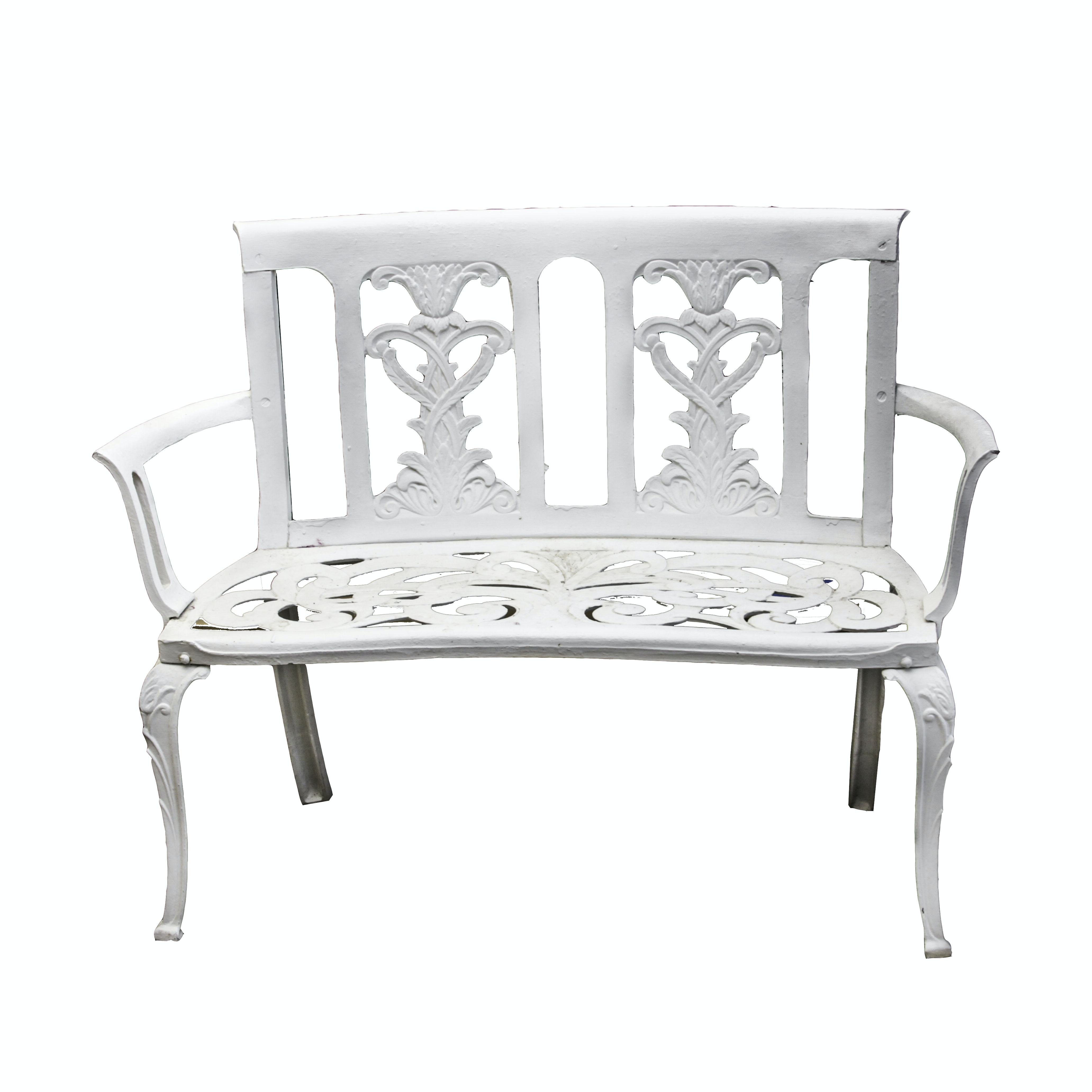 Cast Metal Garden Bench