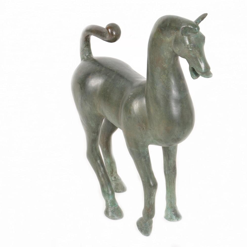 Chinese Bronze Horse Sculpture