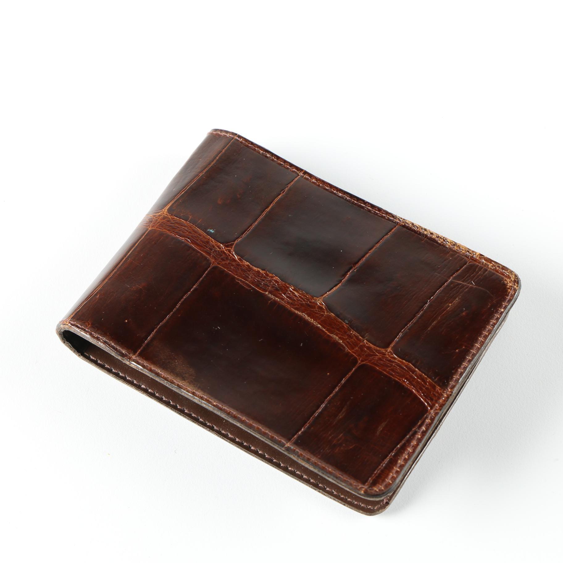 Vintage Alligator Leather Wallet