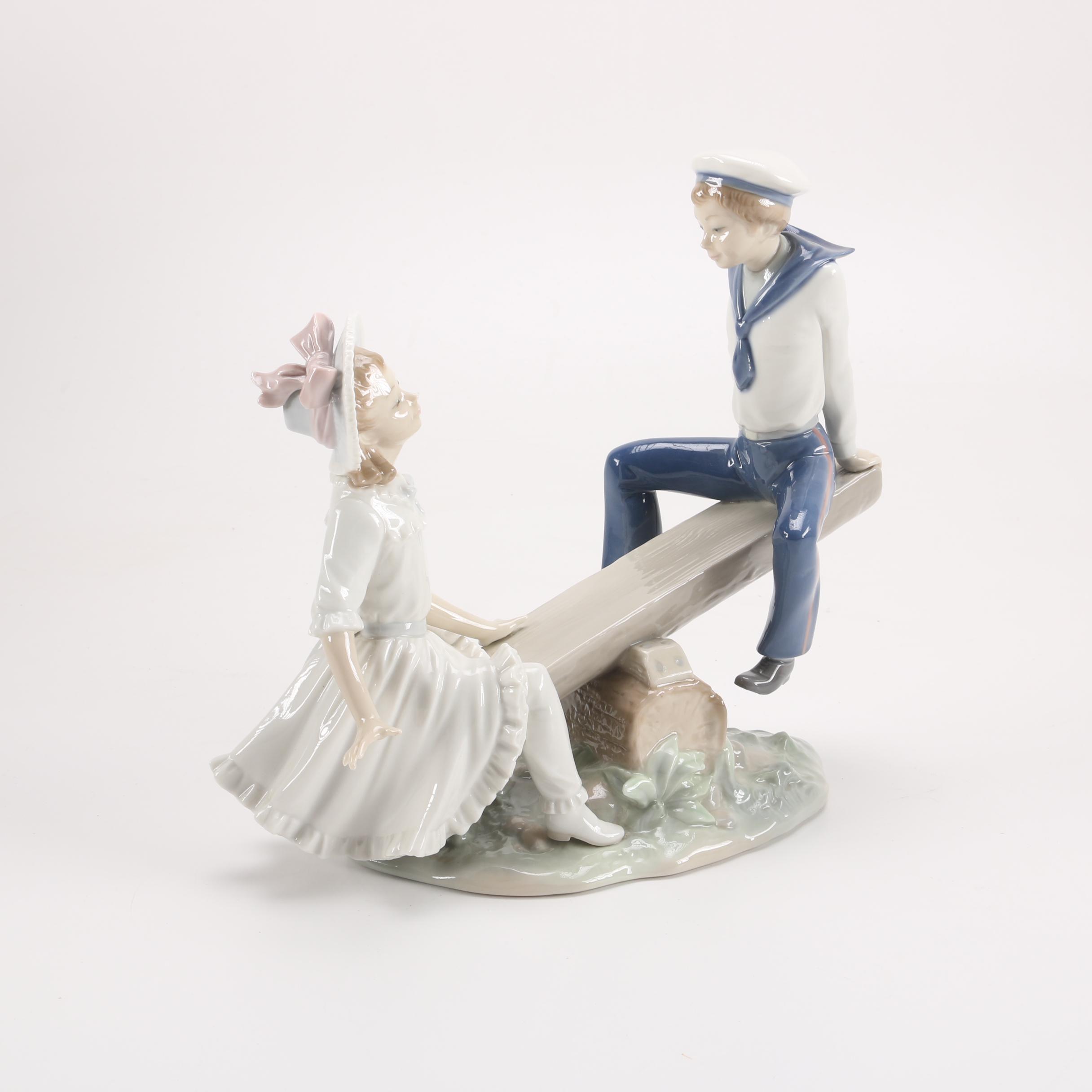 Lladró Seesaw Figurine