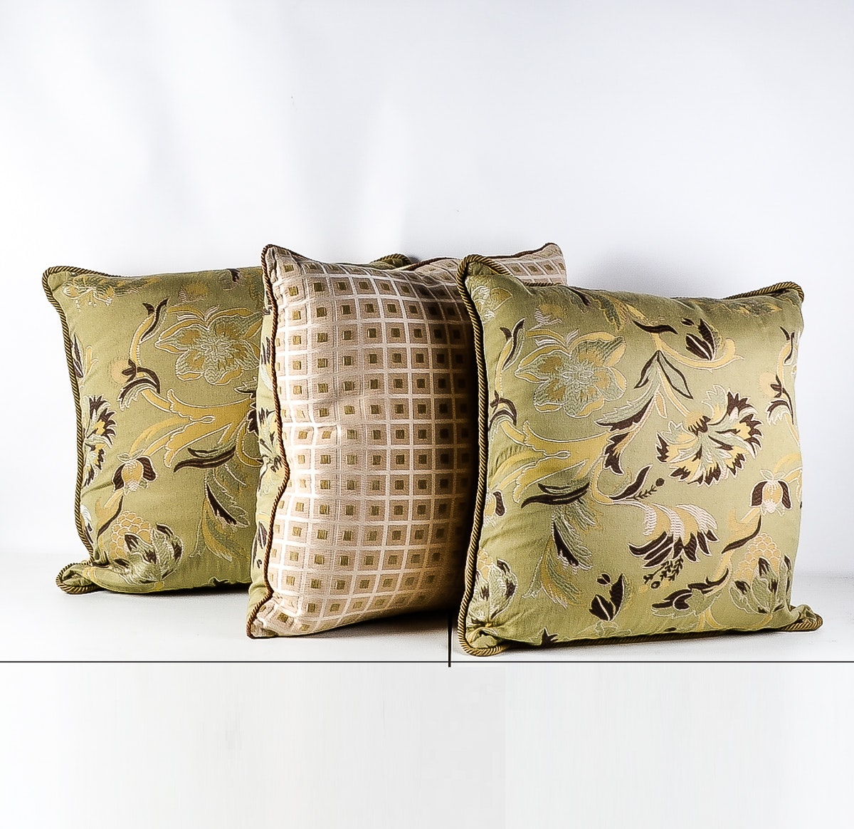 Set of Three Down-Filled Pillows