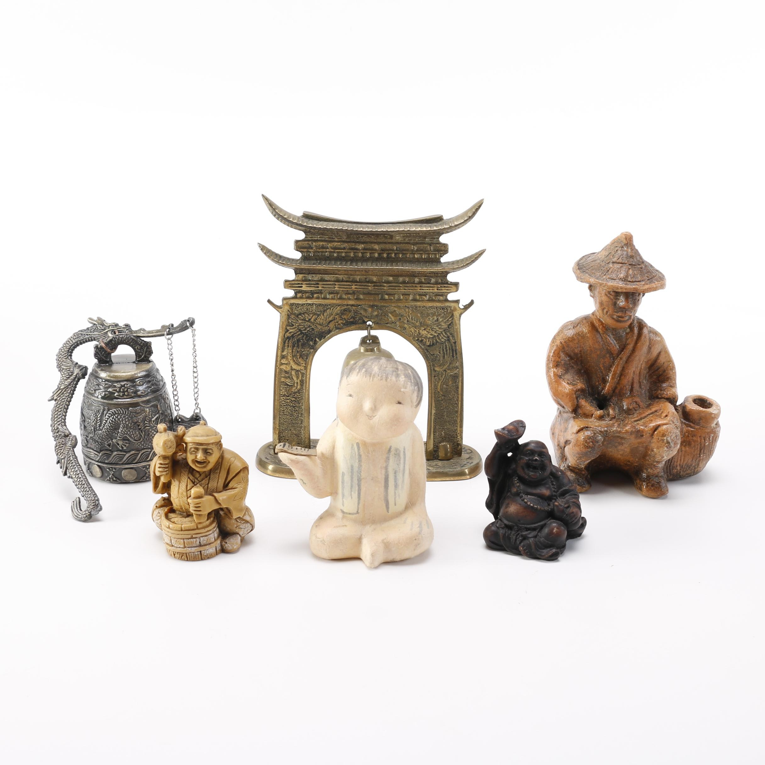 East Asian Figurines and Bells