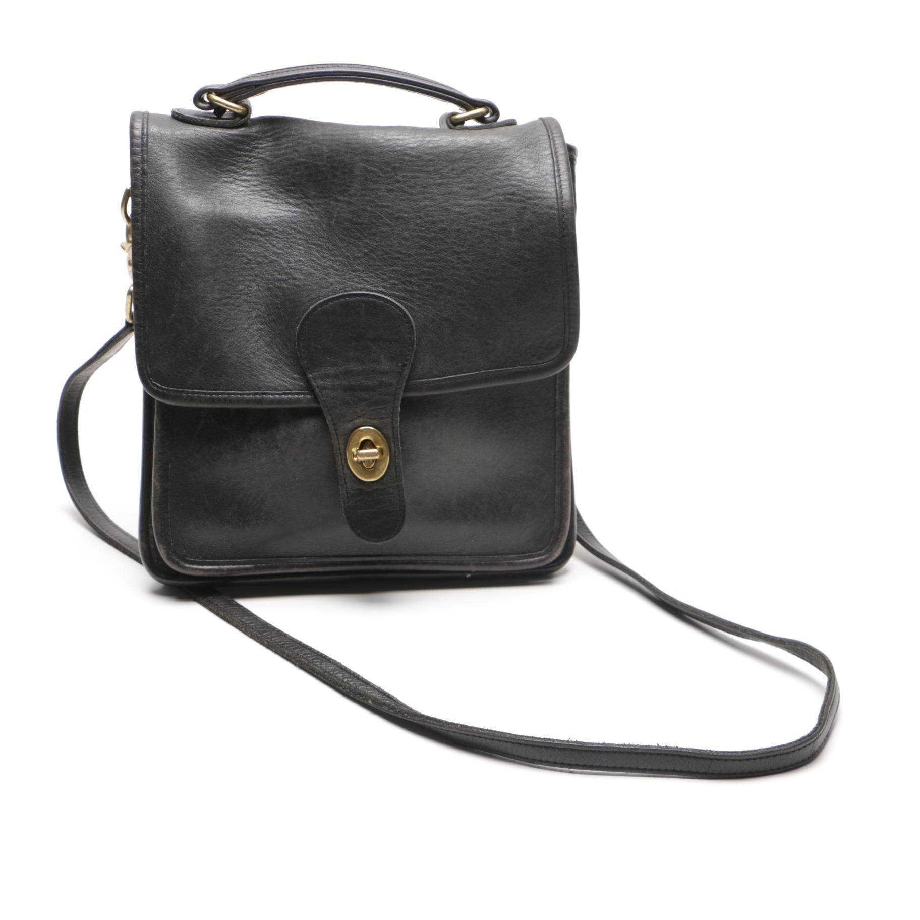Black Coach Saddle Bag