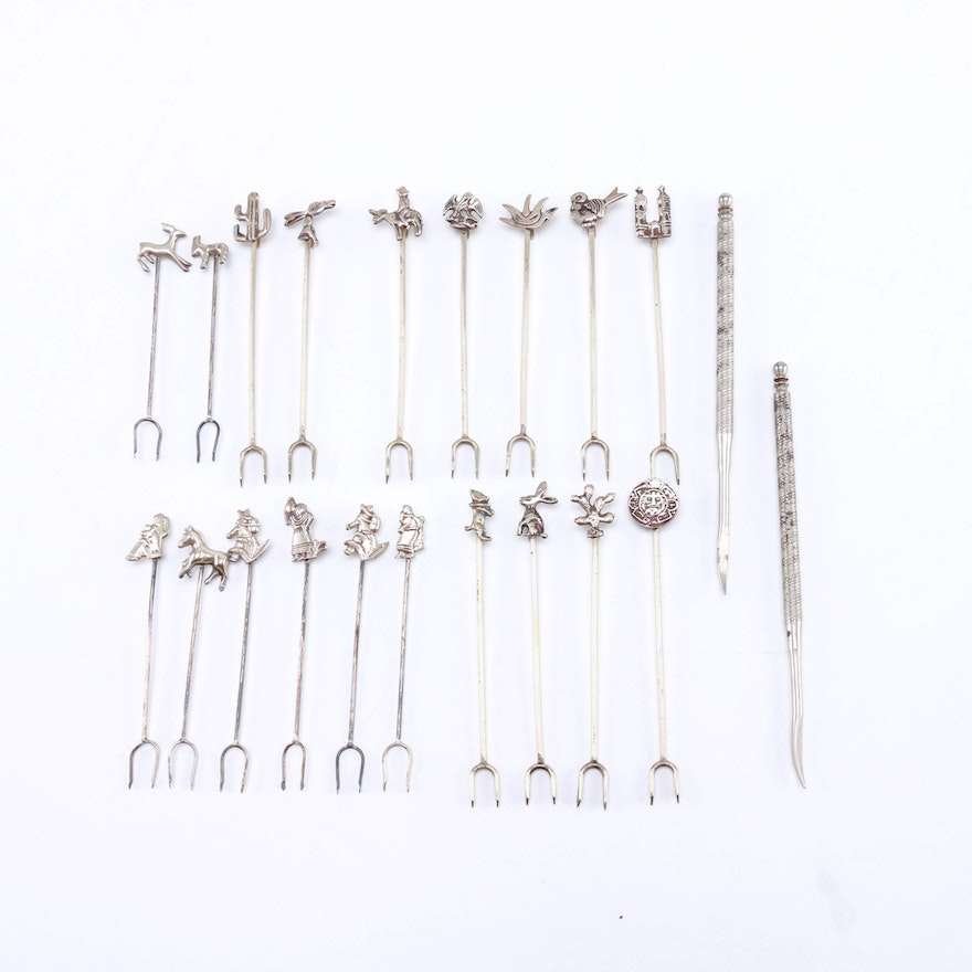 d21930a8 Novelty Cocktail Forks and Nut Scrapers : EBTH