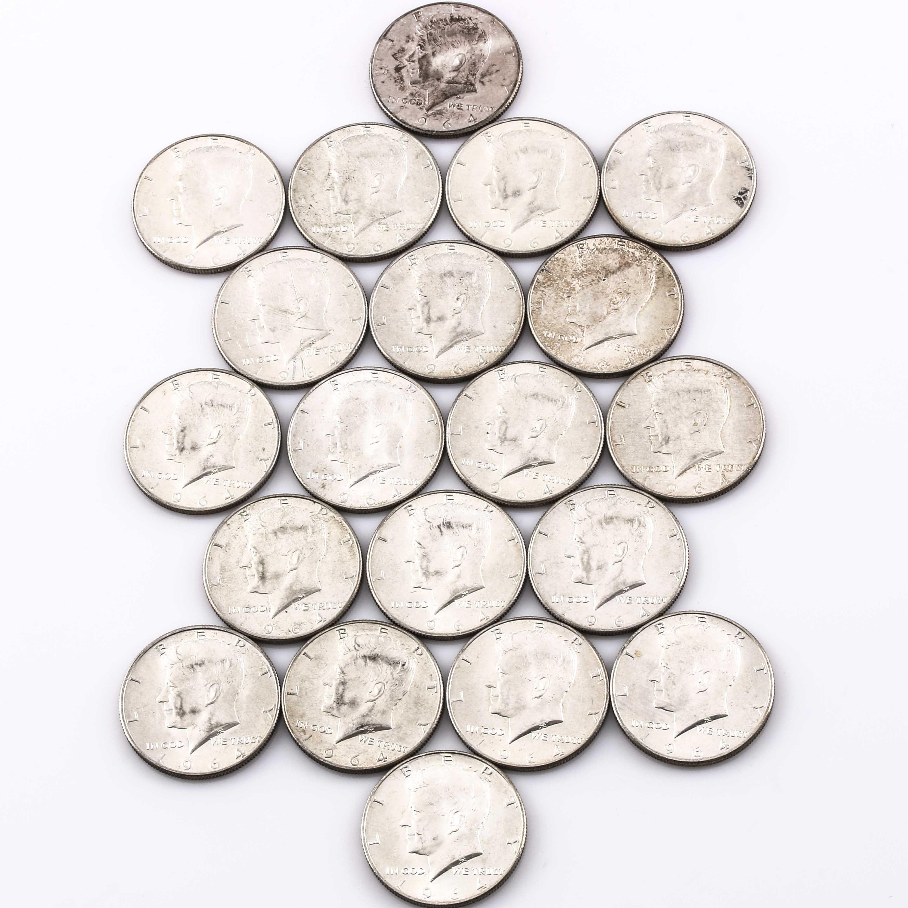 Twenty Kennedy Silver Half Dollars