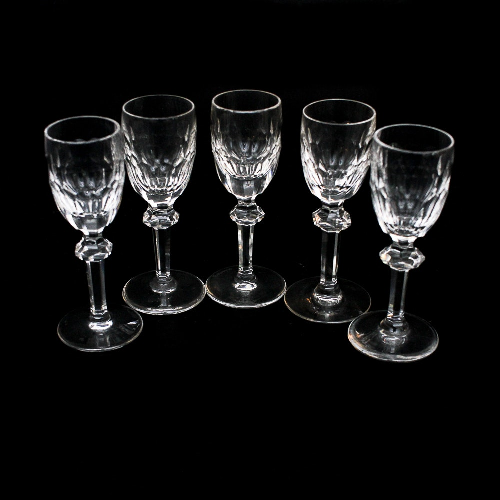"Waterford ""Curraghmore Cut"" Crystal Cordial Glasses"