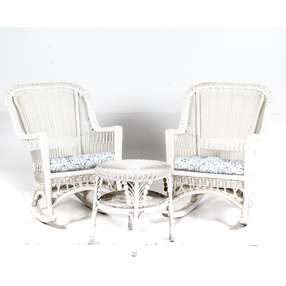 Three Piece Wicker Patio Furniture Set