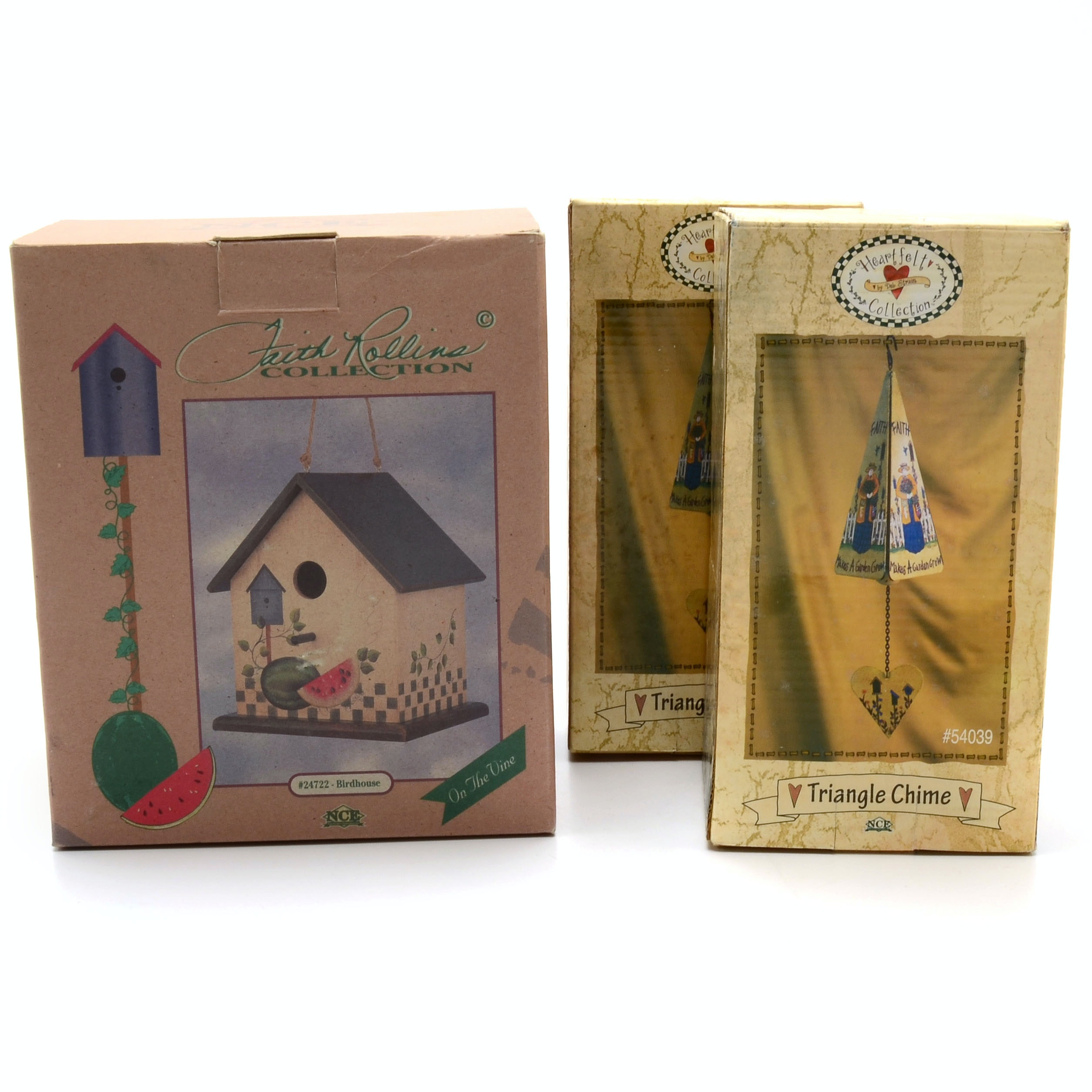 Decorative Birdhouse and Two Wind Chimes