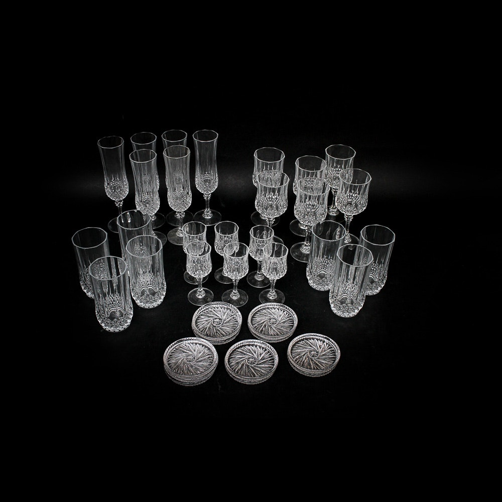 "Waterford ""Cristal D'Arques Longchamp"" Barware"