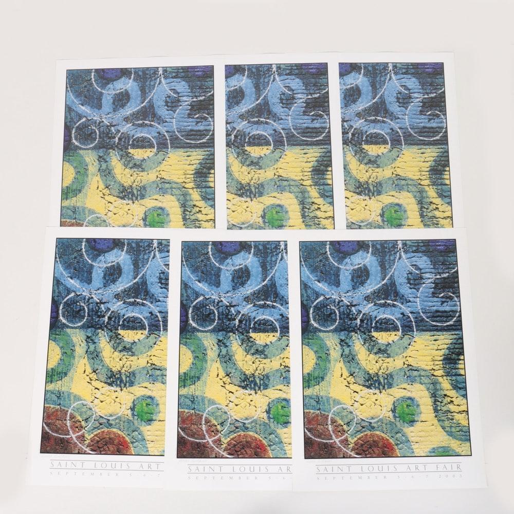 """Rimas Ciurlionis Limited Edition Offset Lithographs """"Flow"""" for Saint Louis Art Fair"""
