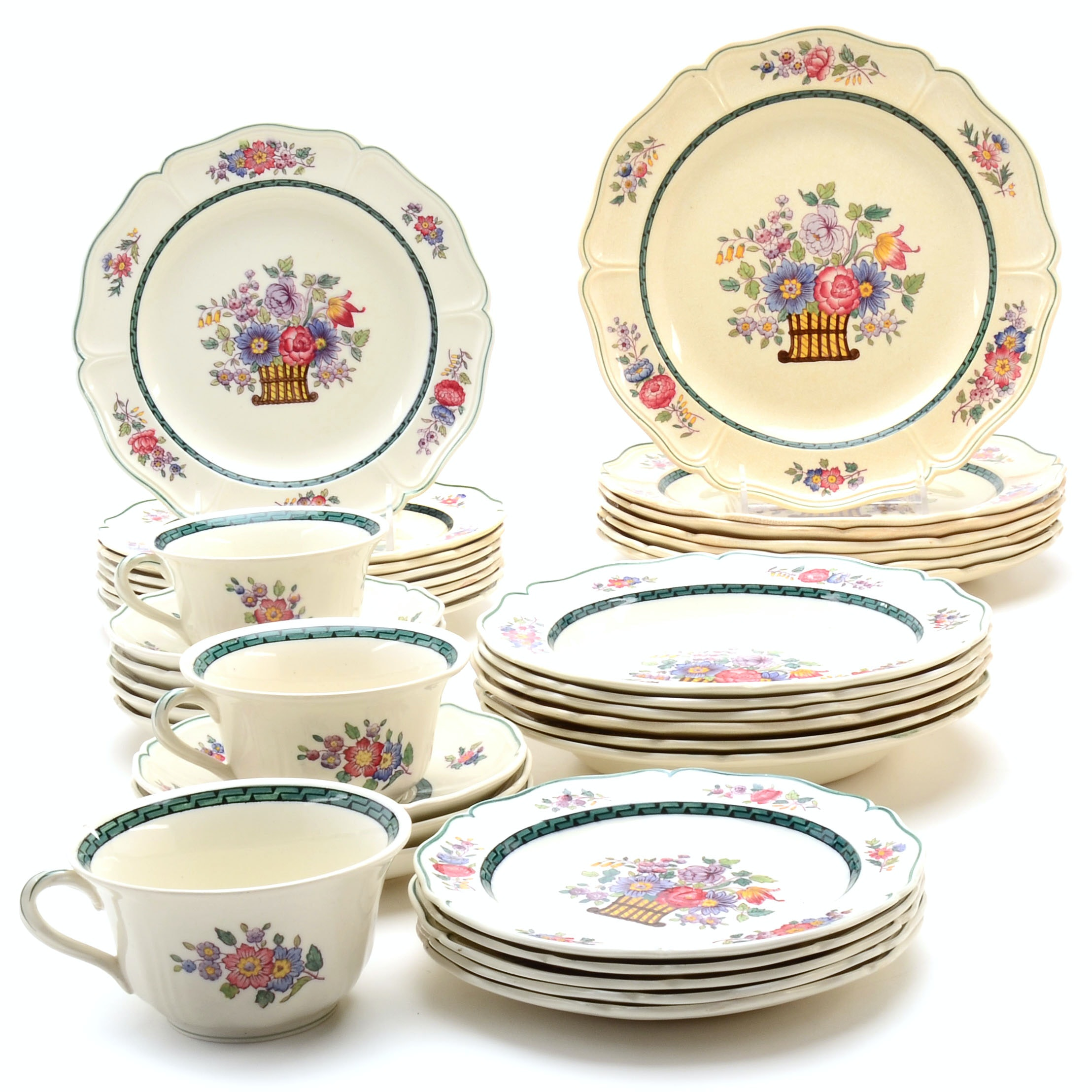 "Collection of ""Floral"" Wedgwood Dinnerware"