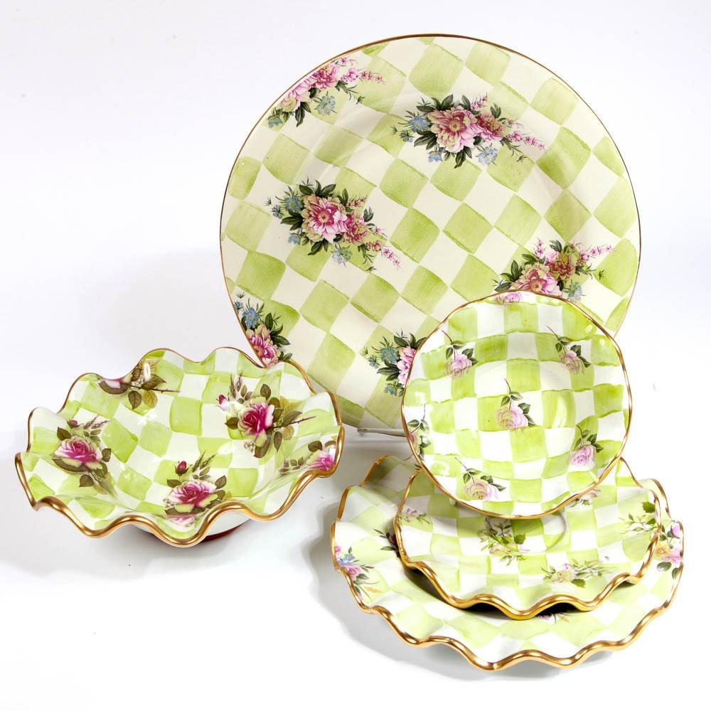 Green Checker MacKenzie-Childs Ceramics