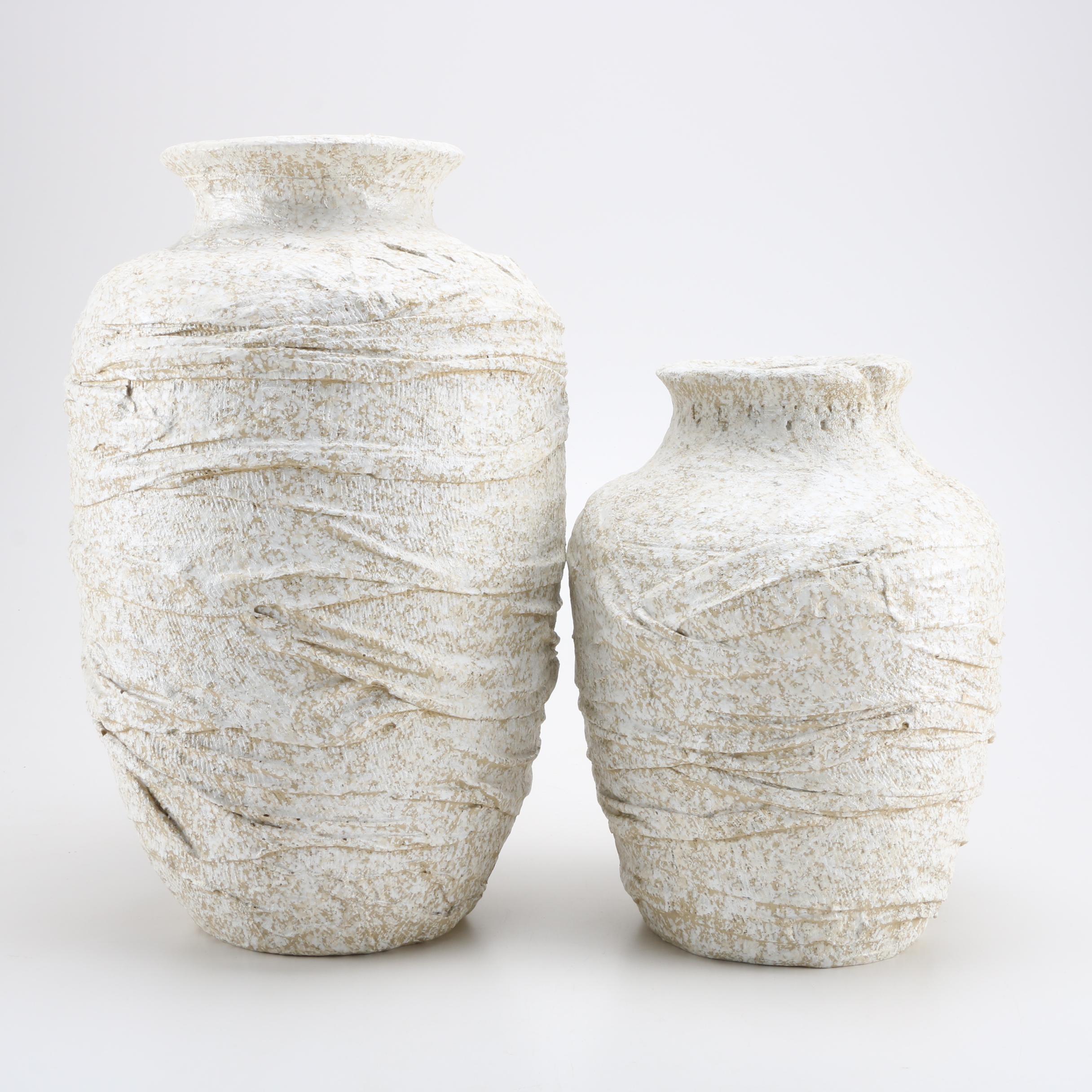 Artisan Made Pottery Vases