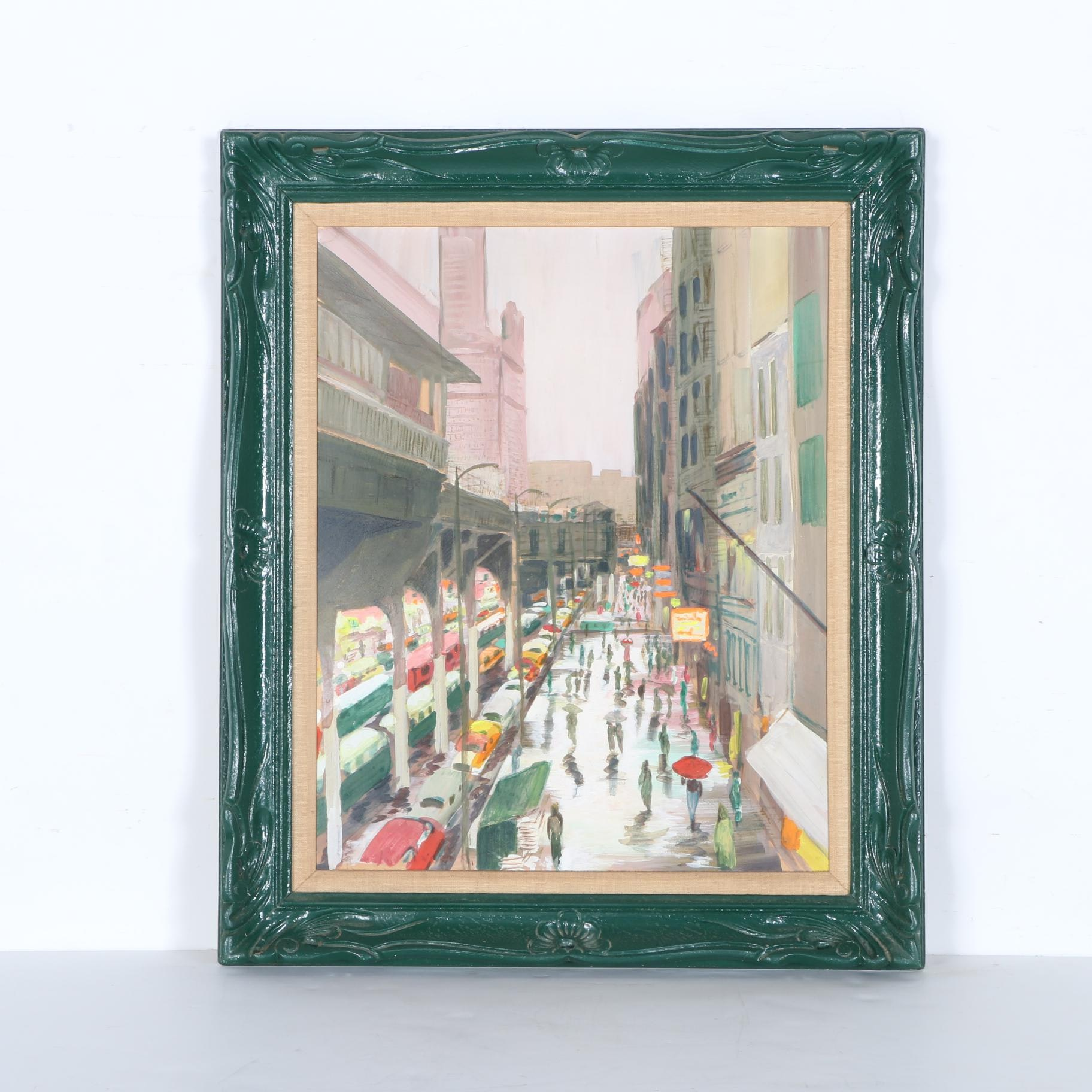 Original Painting of Chicago Streetscape