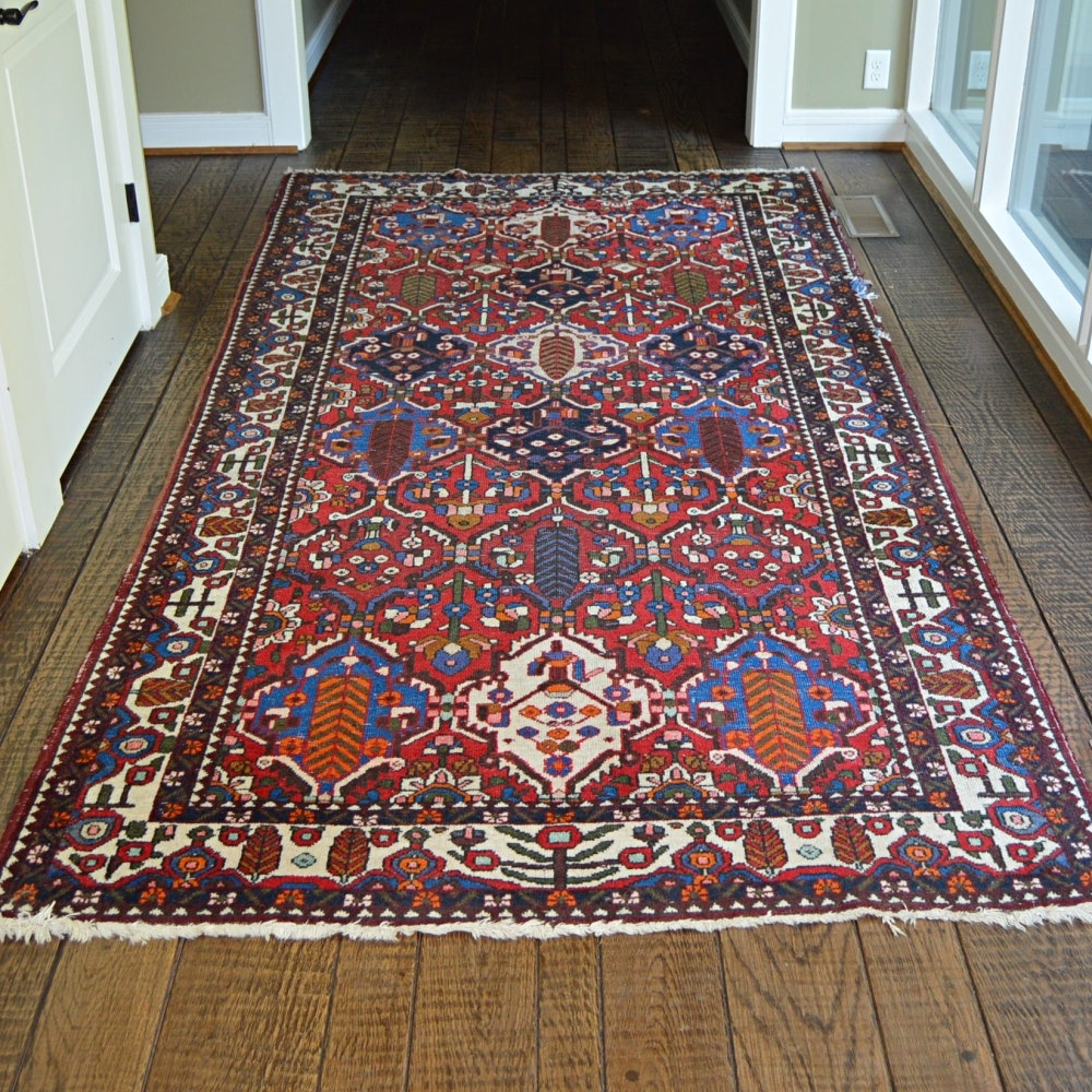 Semi-Antique Hand-Knotted Bakhtiari Area Rug