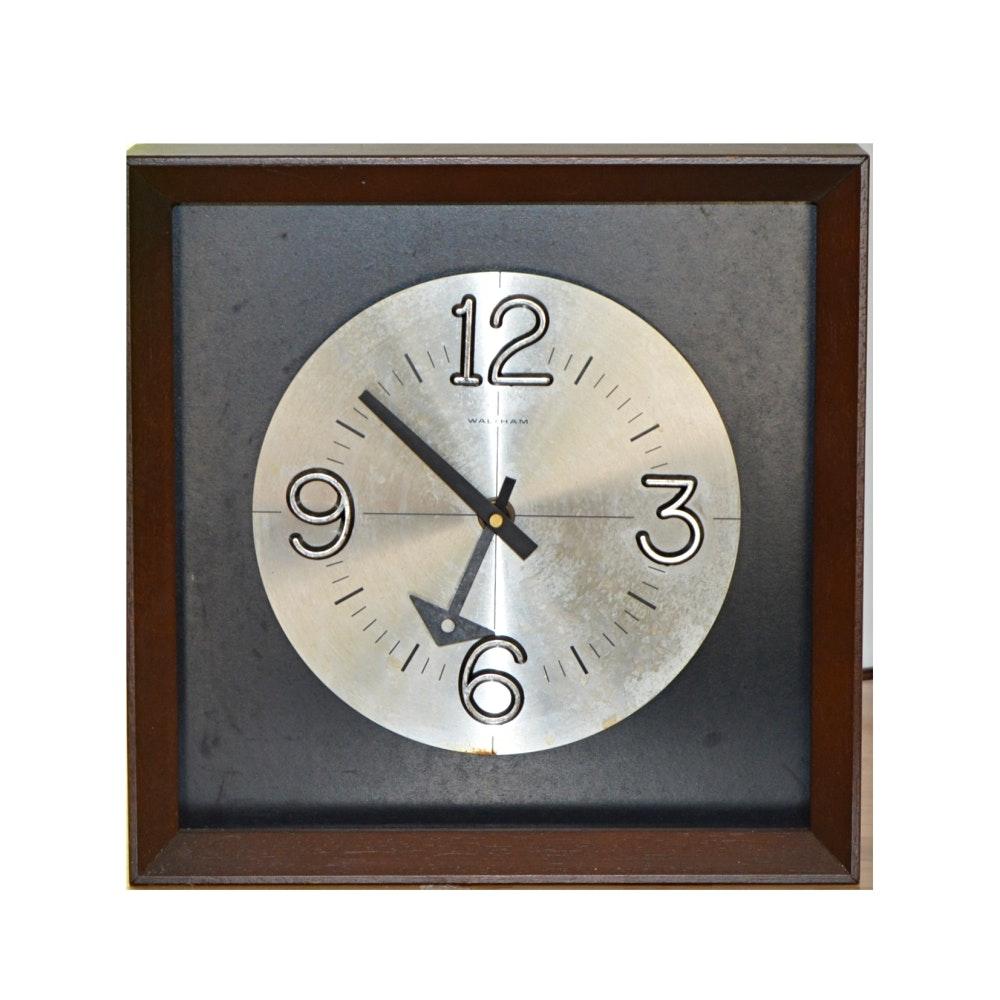 Waltham Mid Century Modern Clock