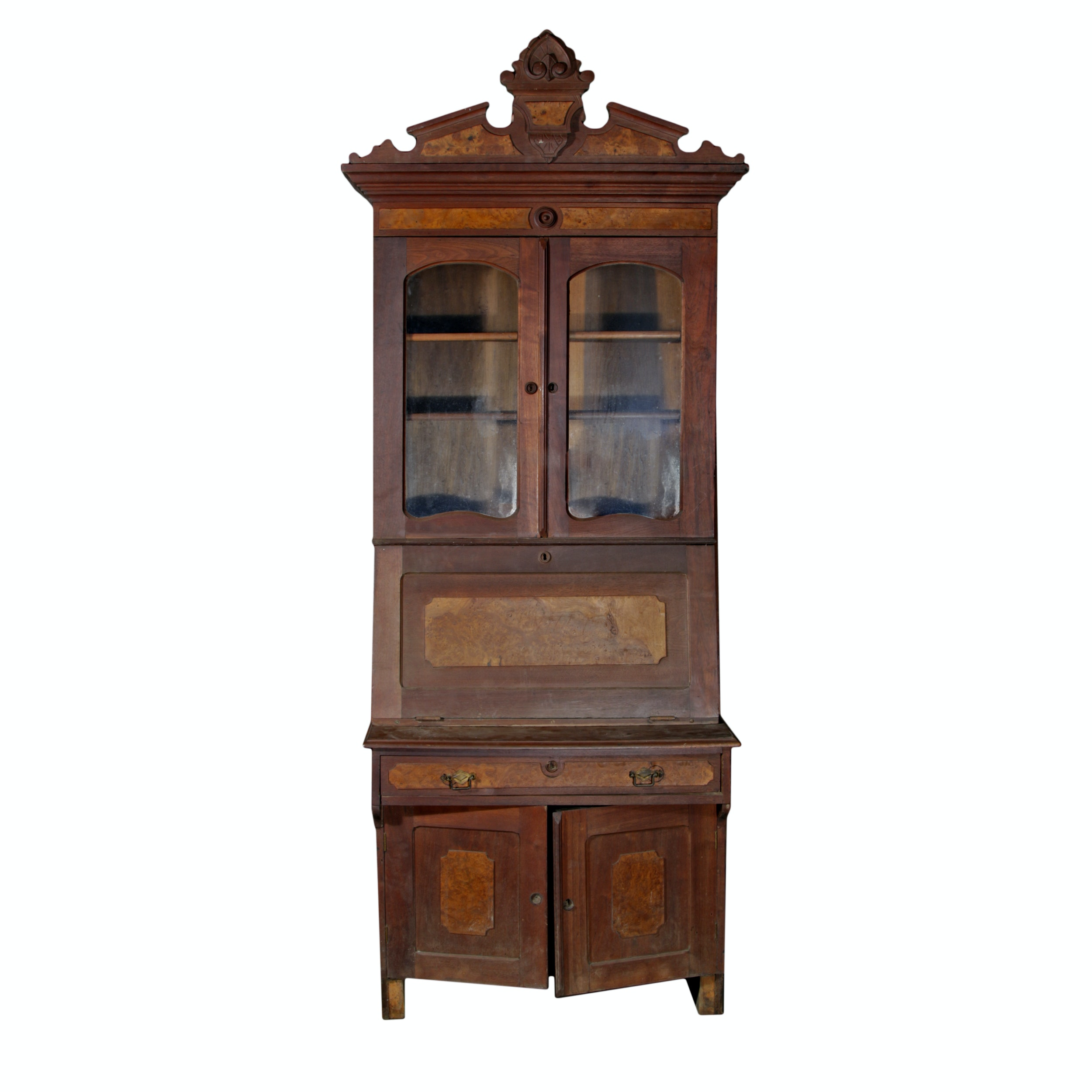 Vintage Eastlake Walnut Secretary Desk