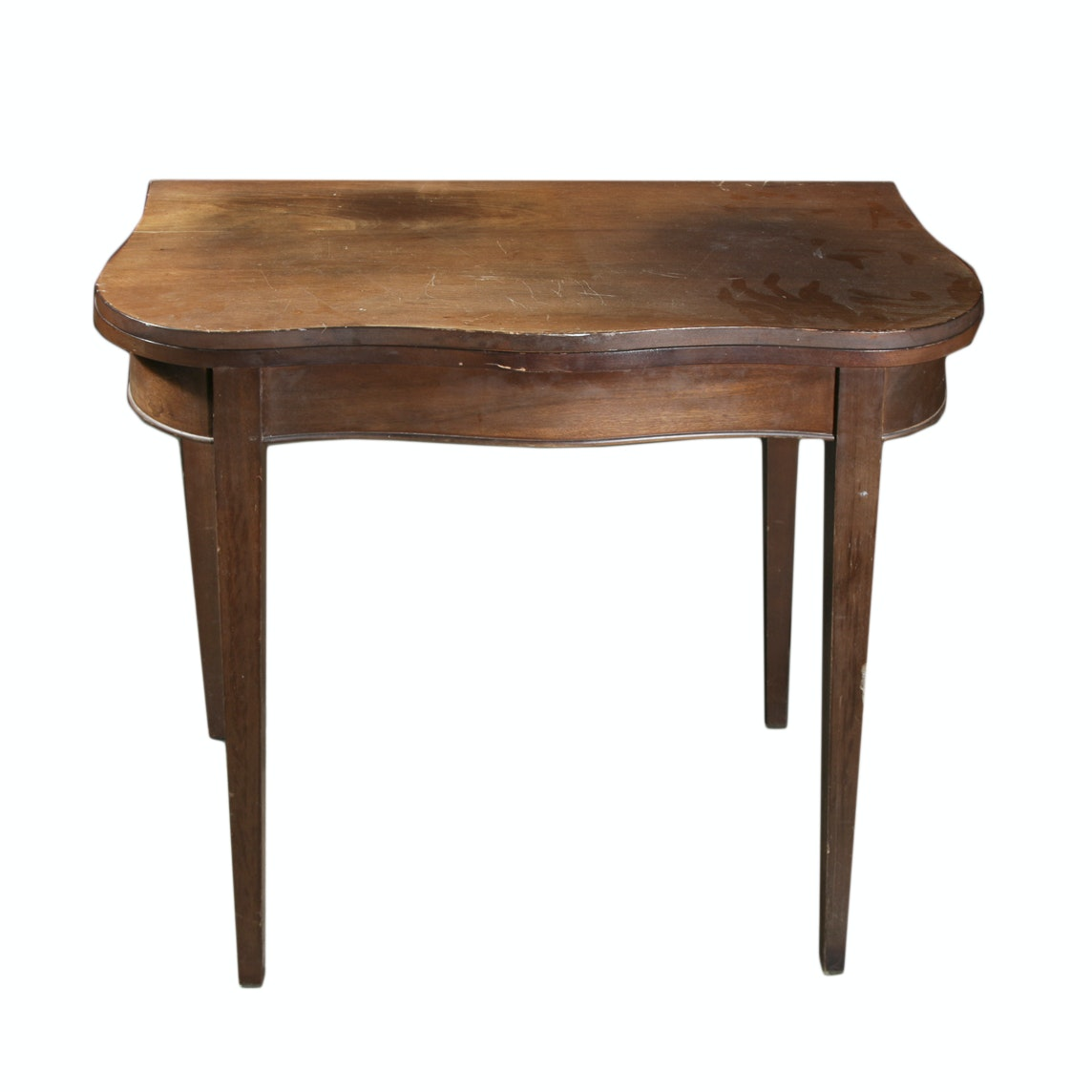 Scalloped Edge Drop Leaf Side Table