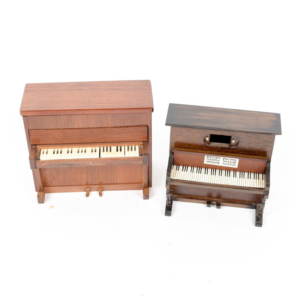 Piano Jewelry Boxes with Secret Compartment