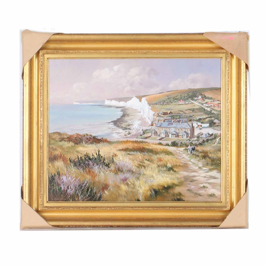 "Nicholas Englefield Oil Painting on Canvas ""Birling Gap"""