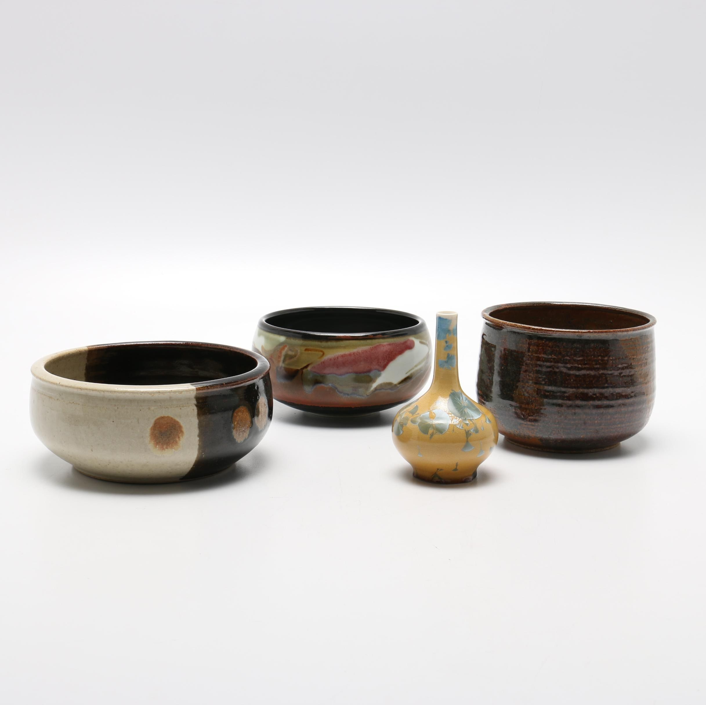 Hand Thrown Studio Pottery Including Raku