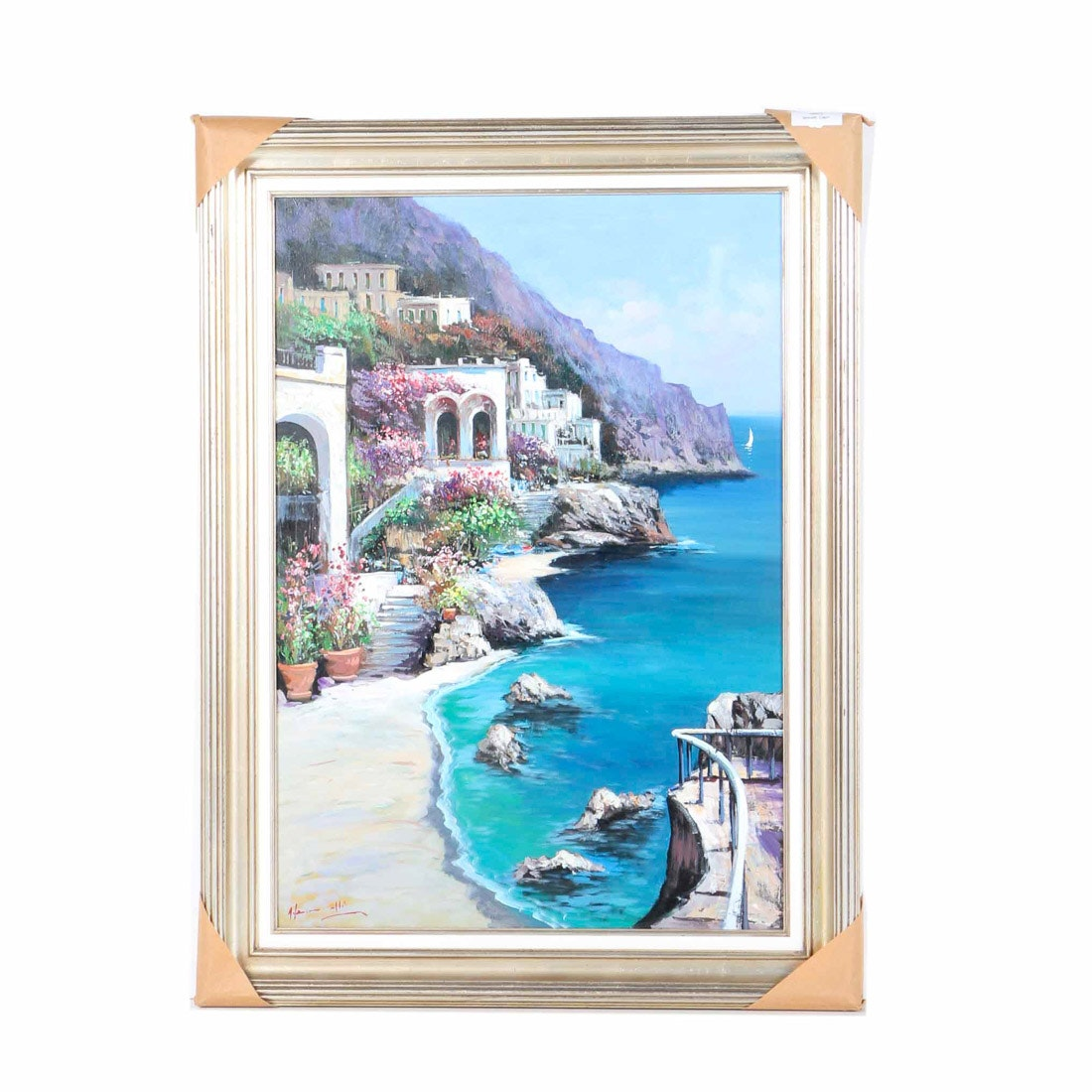"Antonio Iannicelli Oil on Canvas ""Capri"""
