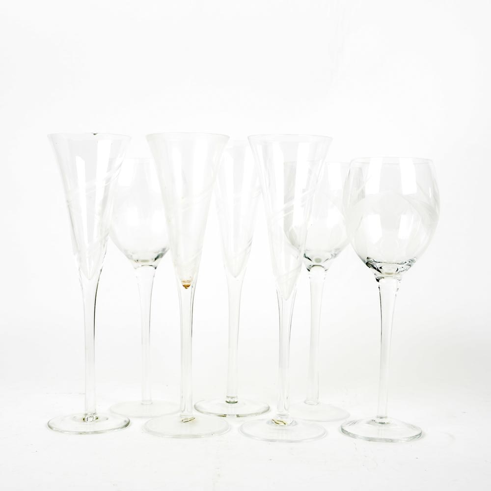 Selection of Crystal Glassware
