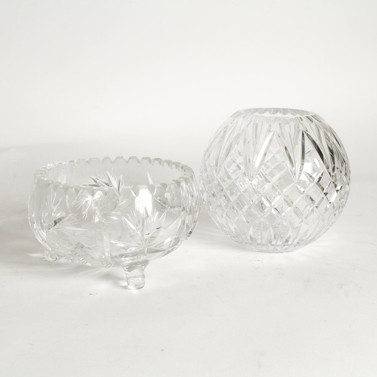 2 Pieces of Cut Crystal