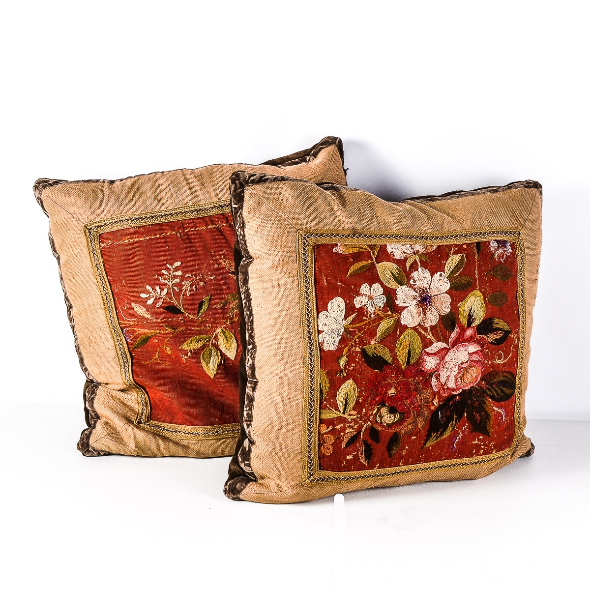 Pair of Vintage Down-Filled Pillows