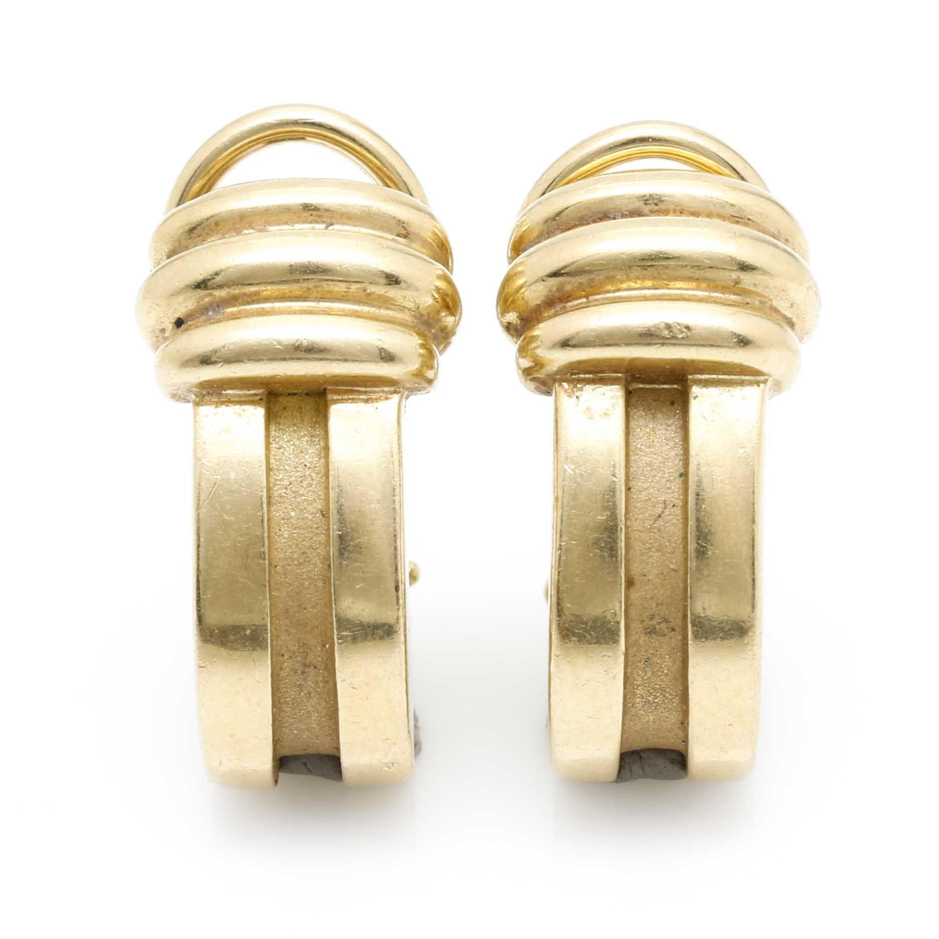 Tiffany & Co. 18K Yellow Gold Clip-On Earrings