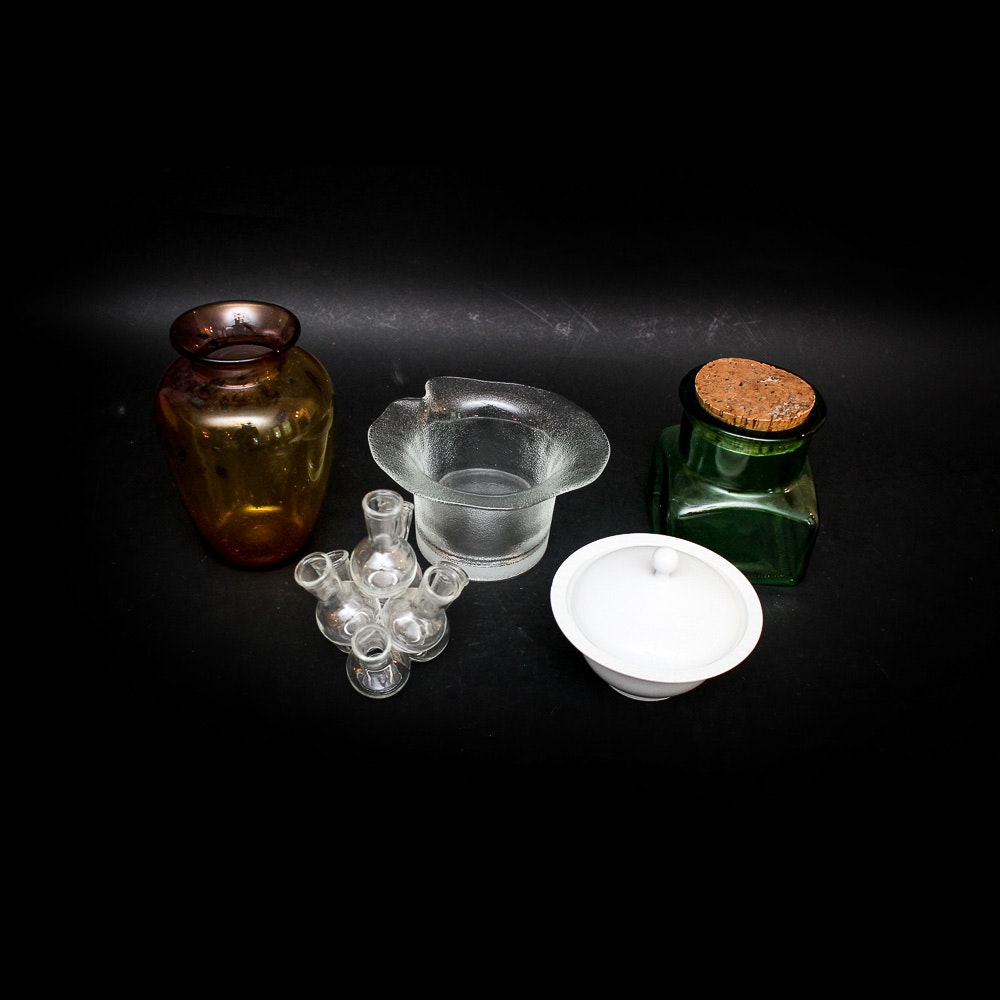 Glass Vases and Other Decorative Items