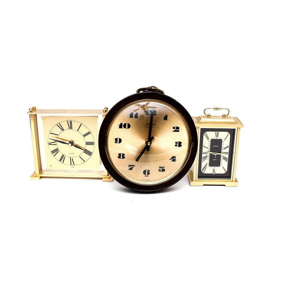 Vintage Clocks Including Peter Transistor