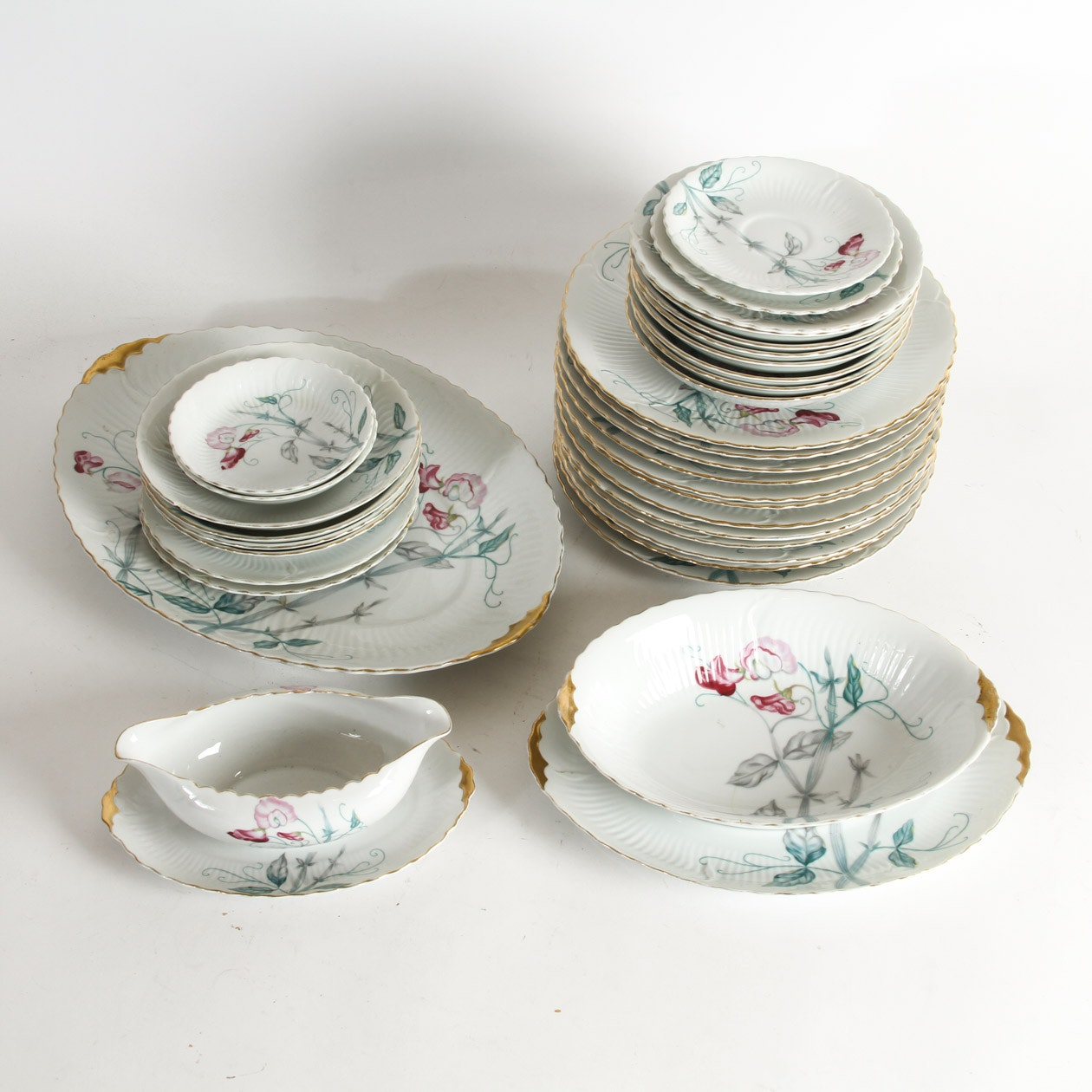 Set of Porcelain Dinnerware by Gold China