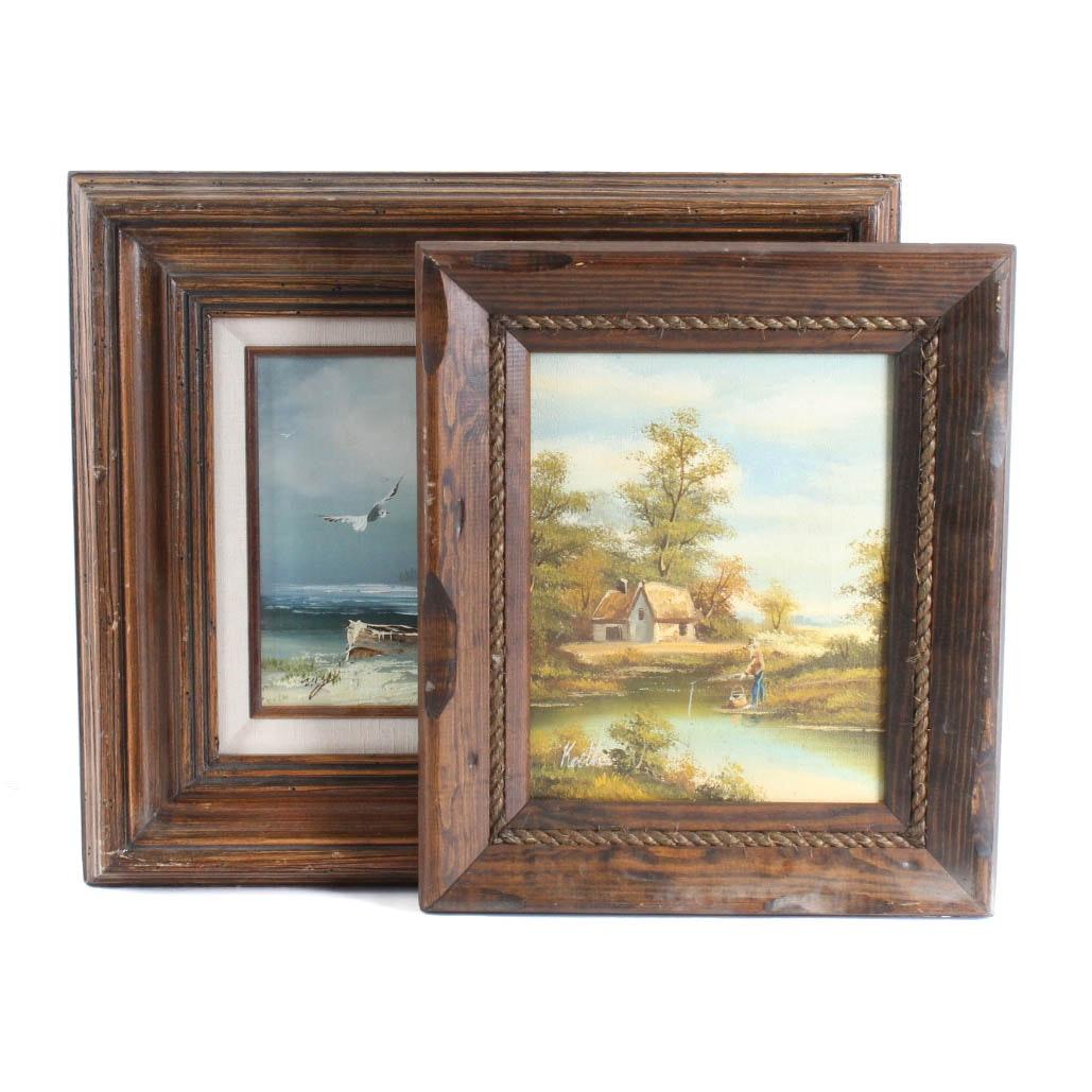 Pair of Original Signed Paintings