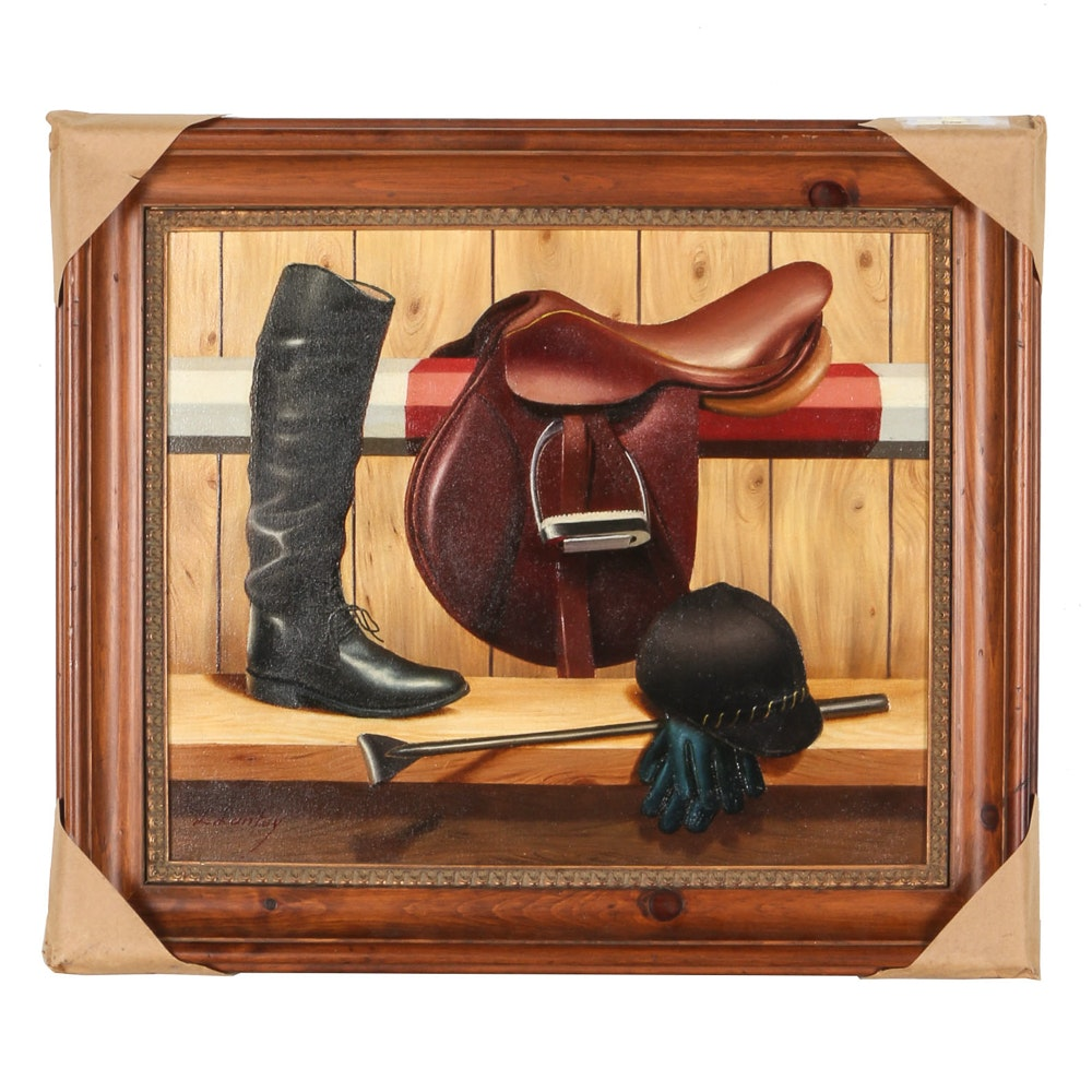 "Jose Llantoy Oil Painting On Canvas ""Tack"""