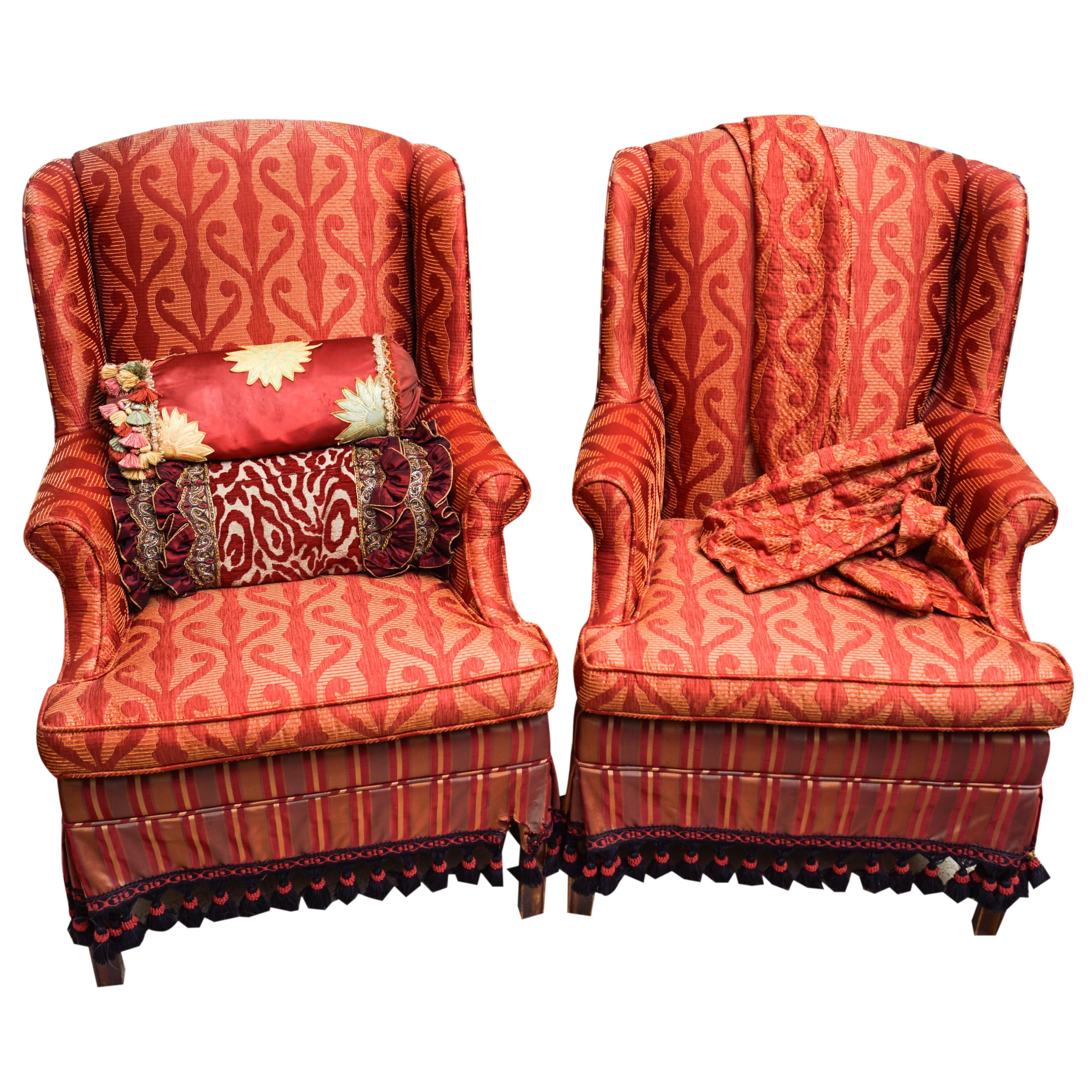 Custom Upholstered Wingback Armchairs