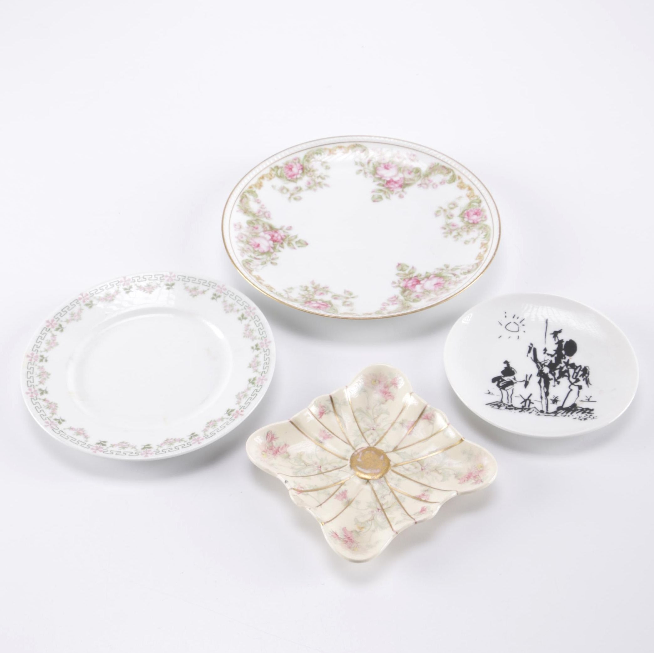 Selection of Porcelain Plates Featuring Haviland