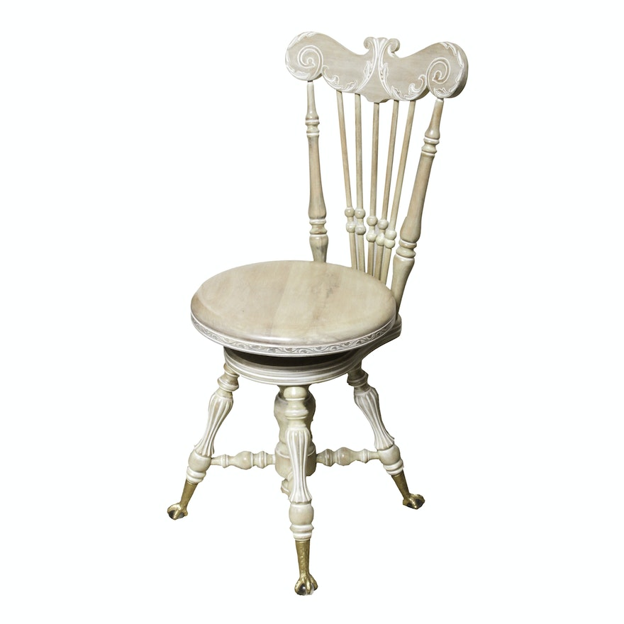 Antique Piano Chair With Swivel Seat ... - Antique Piano Chair With Swivel Seat : EBTH