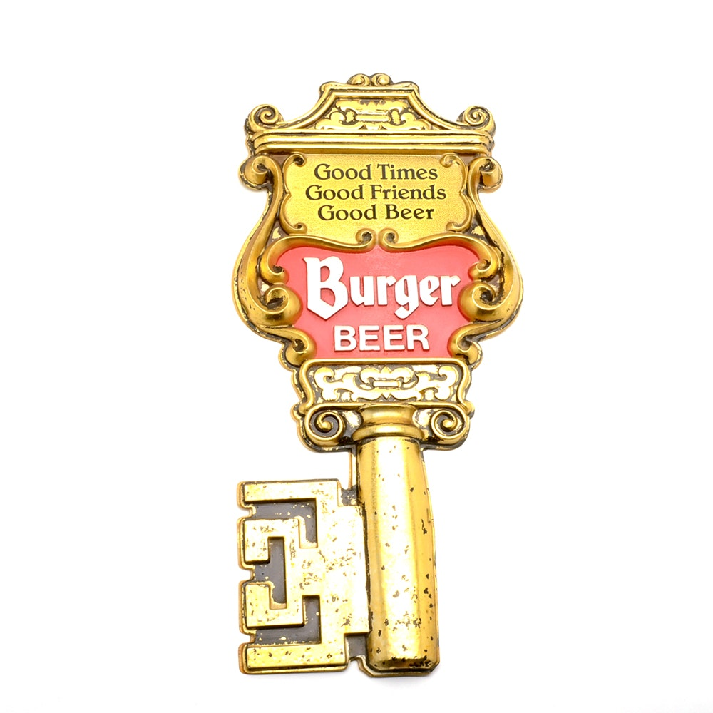 "1960s Burger Beer ""Key To The City"" Display"