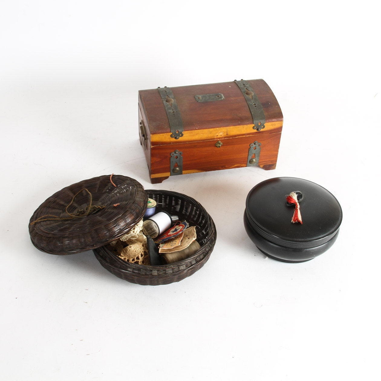 Collection of Vintage Sewing Boxes