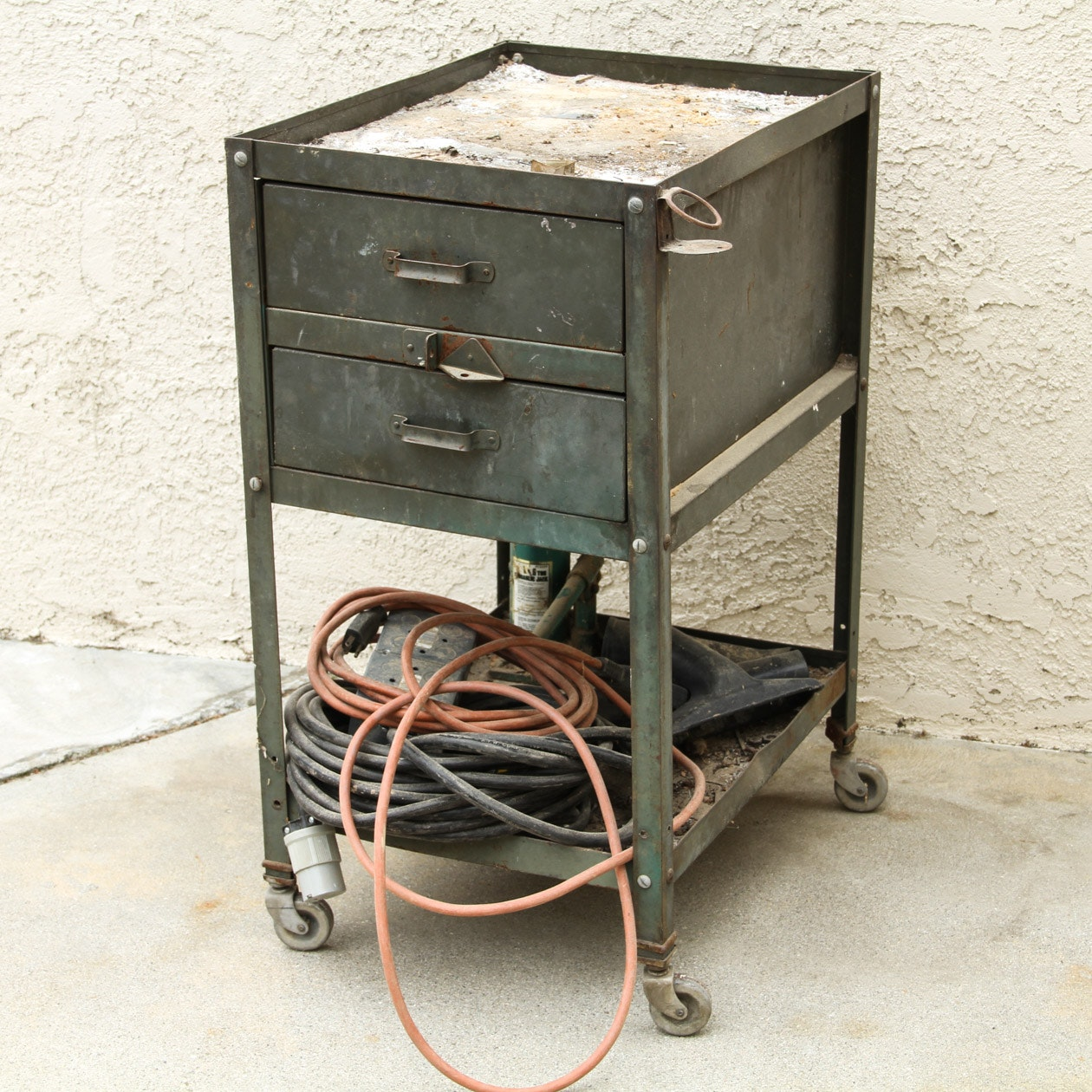 Vintage Mechanic's Rolling Cart with Contents