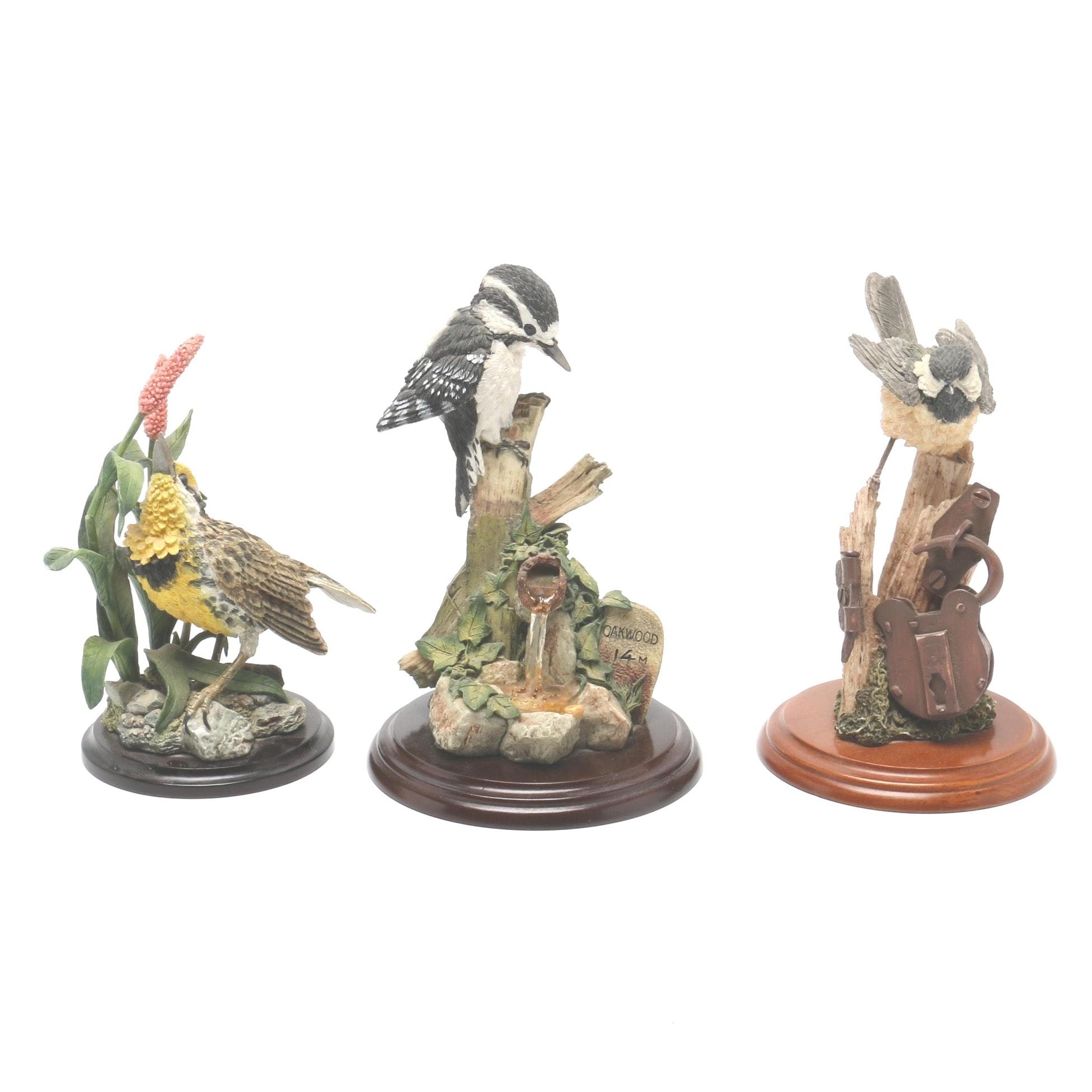 Stratford Collection Hand Painted Ceramic Bird Figurines