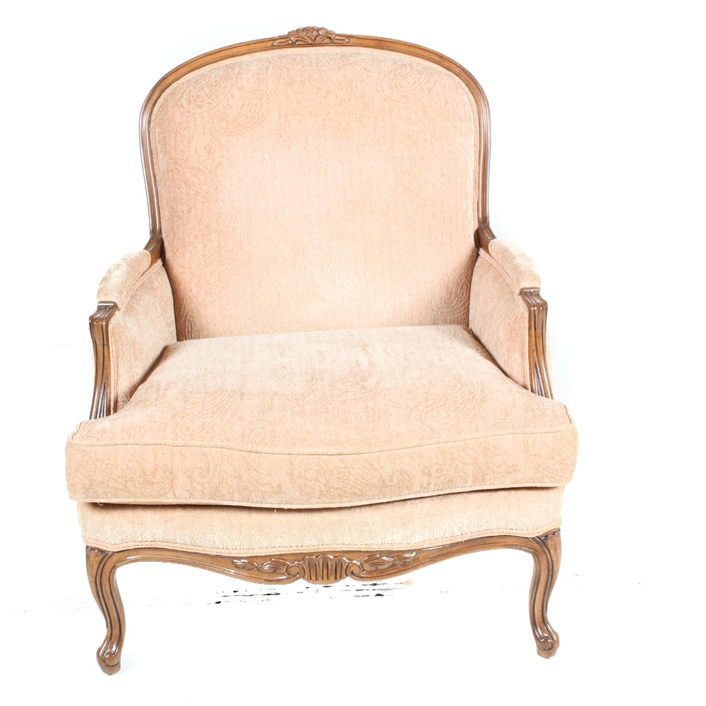 Vintage Ethan Allen Upholstered Armchair