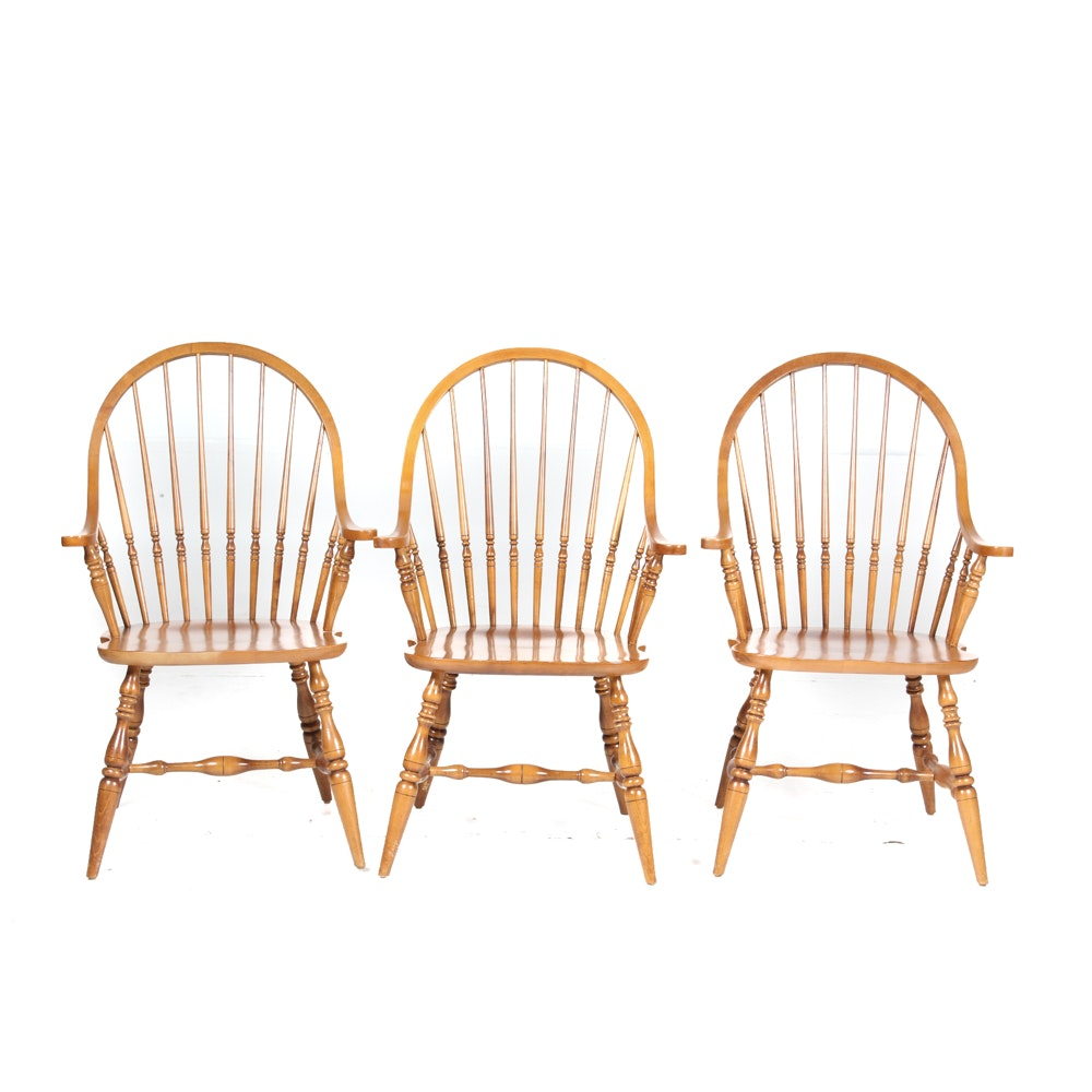 Ethan Allen Windsor Style Armchairs