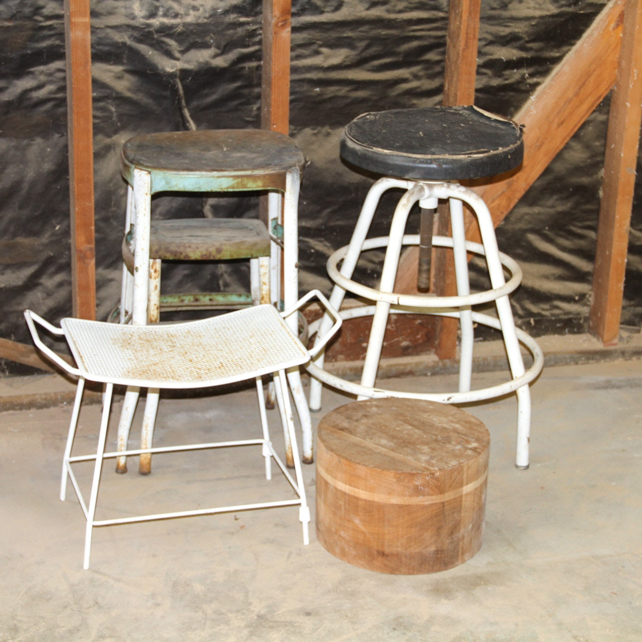 Collection of Vintage Stools